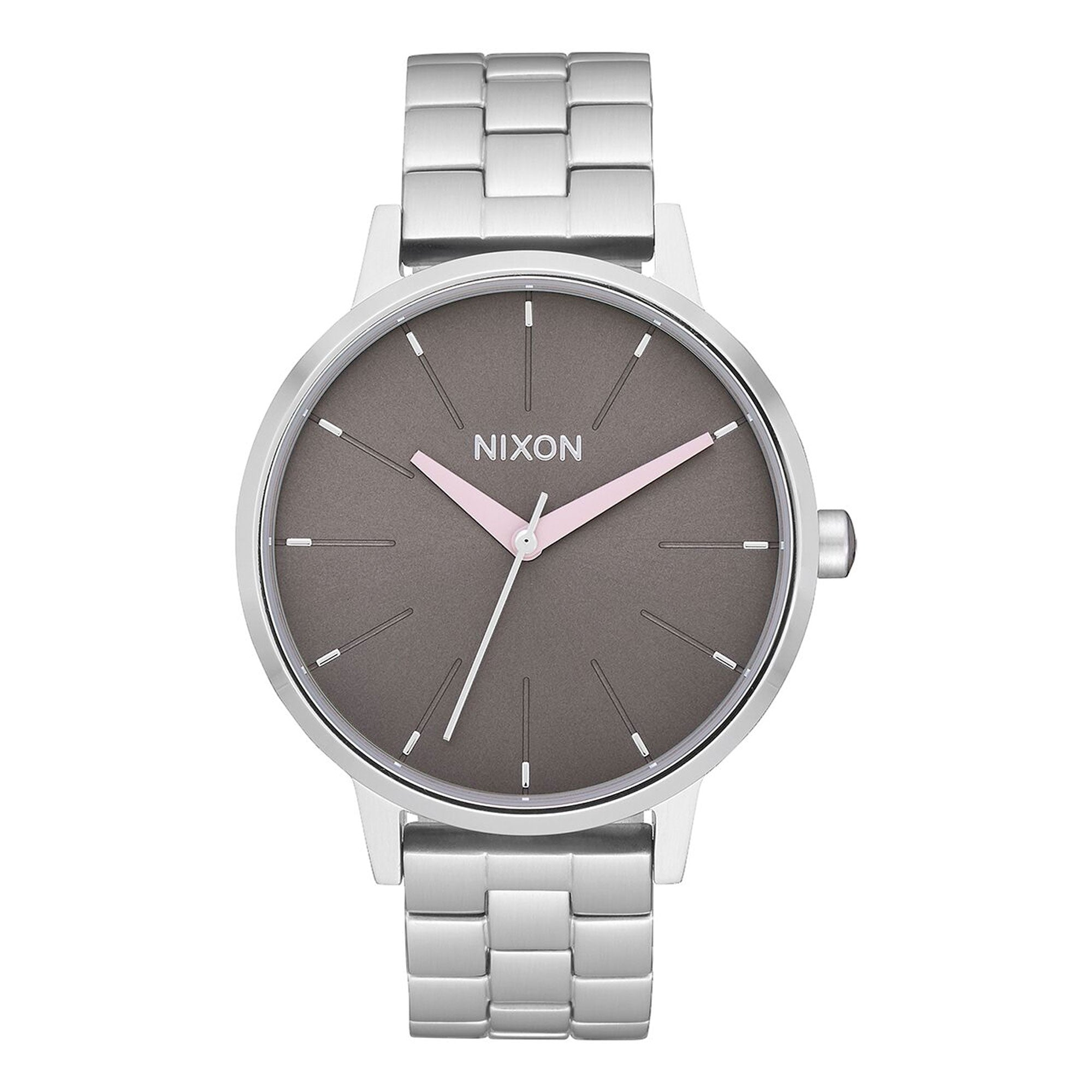 Nixon Kensington Women's Watch - Silver/Grey/Pink