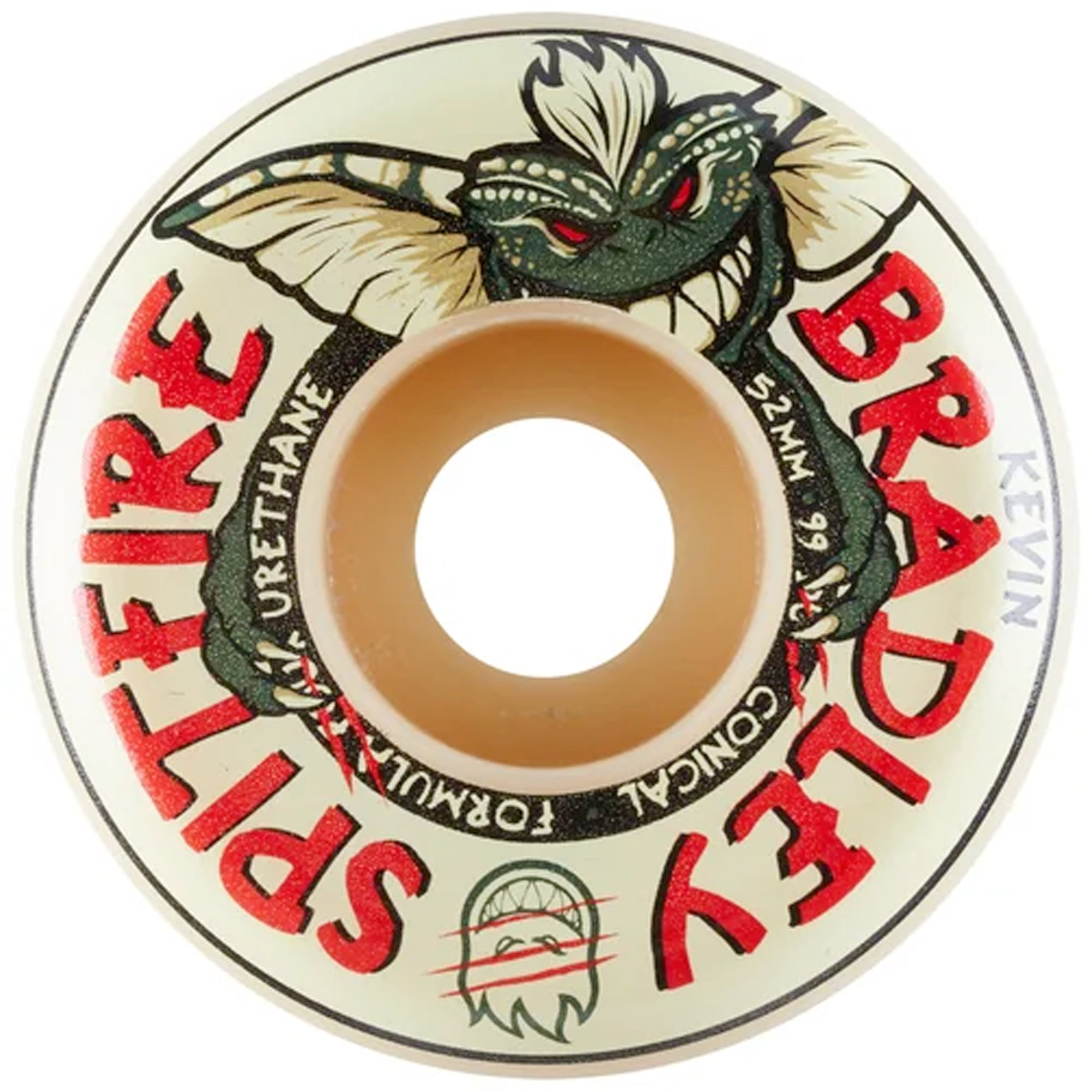 Spitfire Kevin Bradley F4 99a After Midnight 52mm Skateboard Wheel