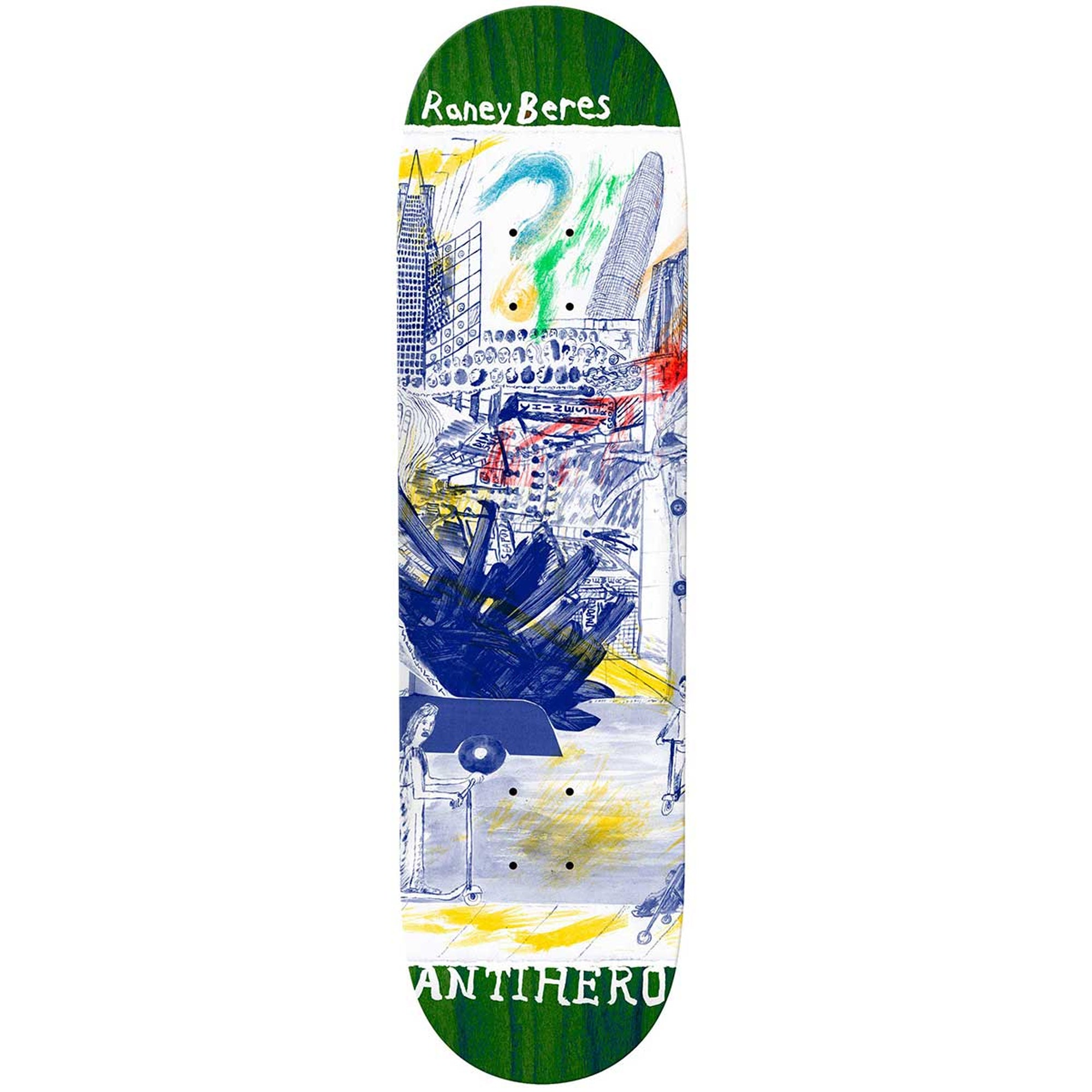 Anti Hero Raney Beres SF Then And Now Skateboard Deck 8.12""