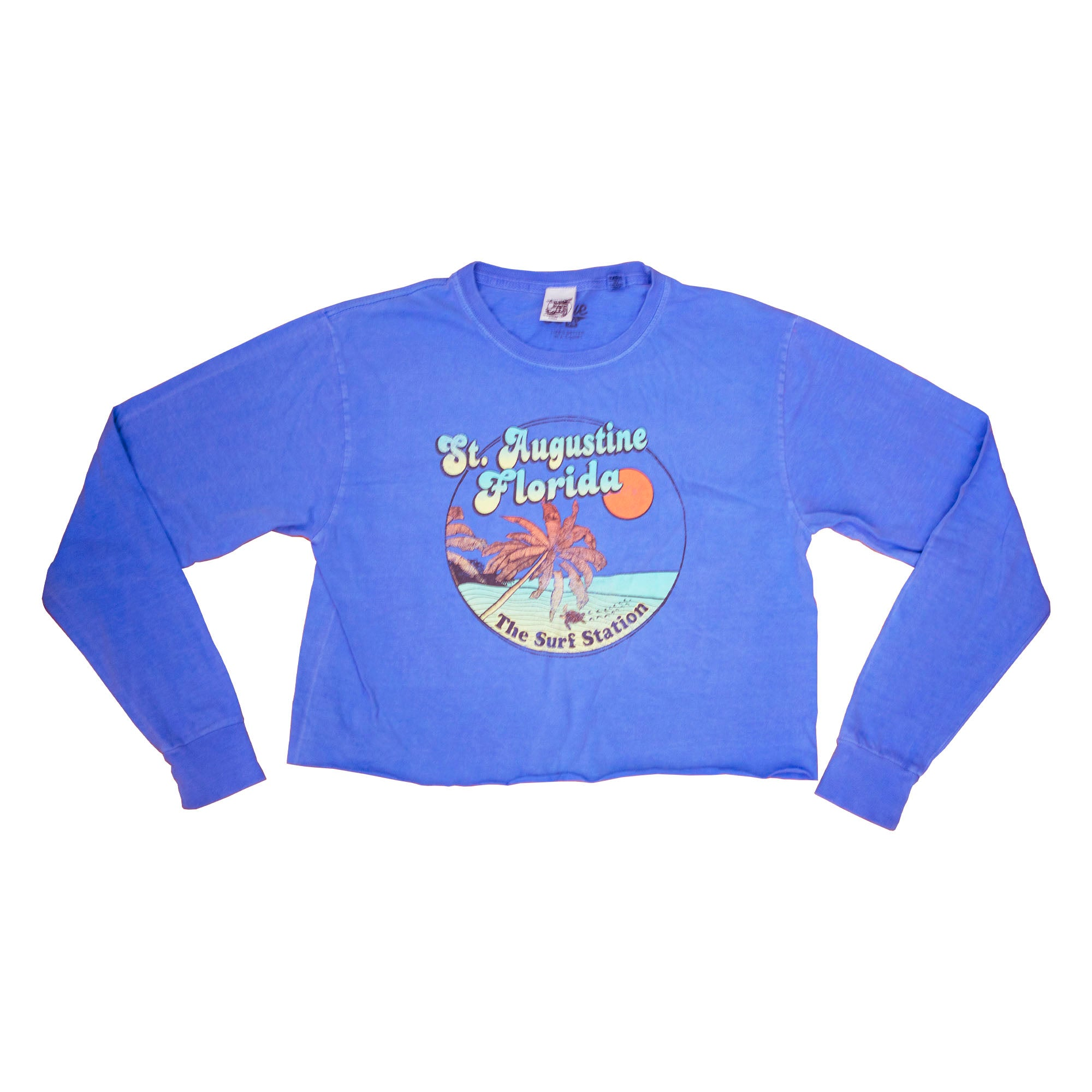 Surf Station Beach Women's Cropped L/S T-Shirt