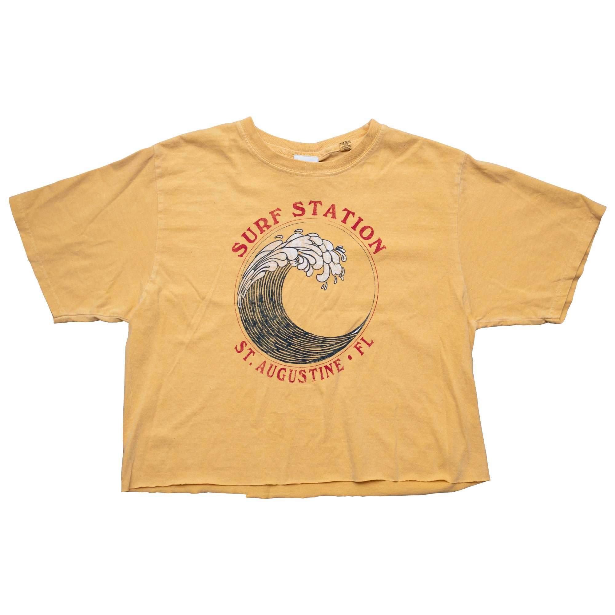 Surf Station Big Wave Women's Cropped S/S T-Shirt