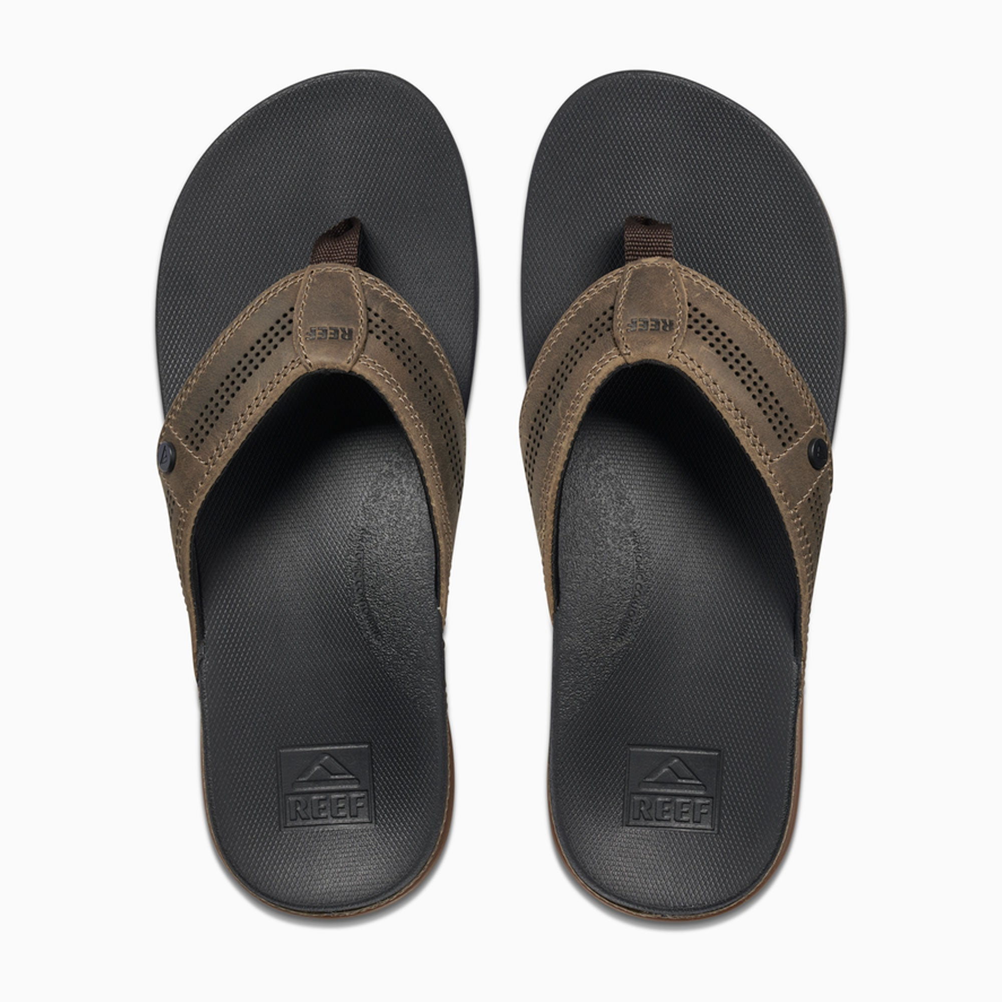Reef Cushion Lux Men's Sandals - Tan/Black