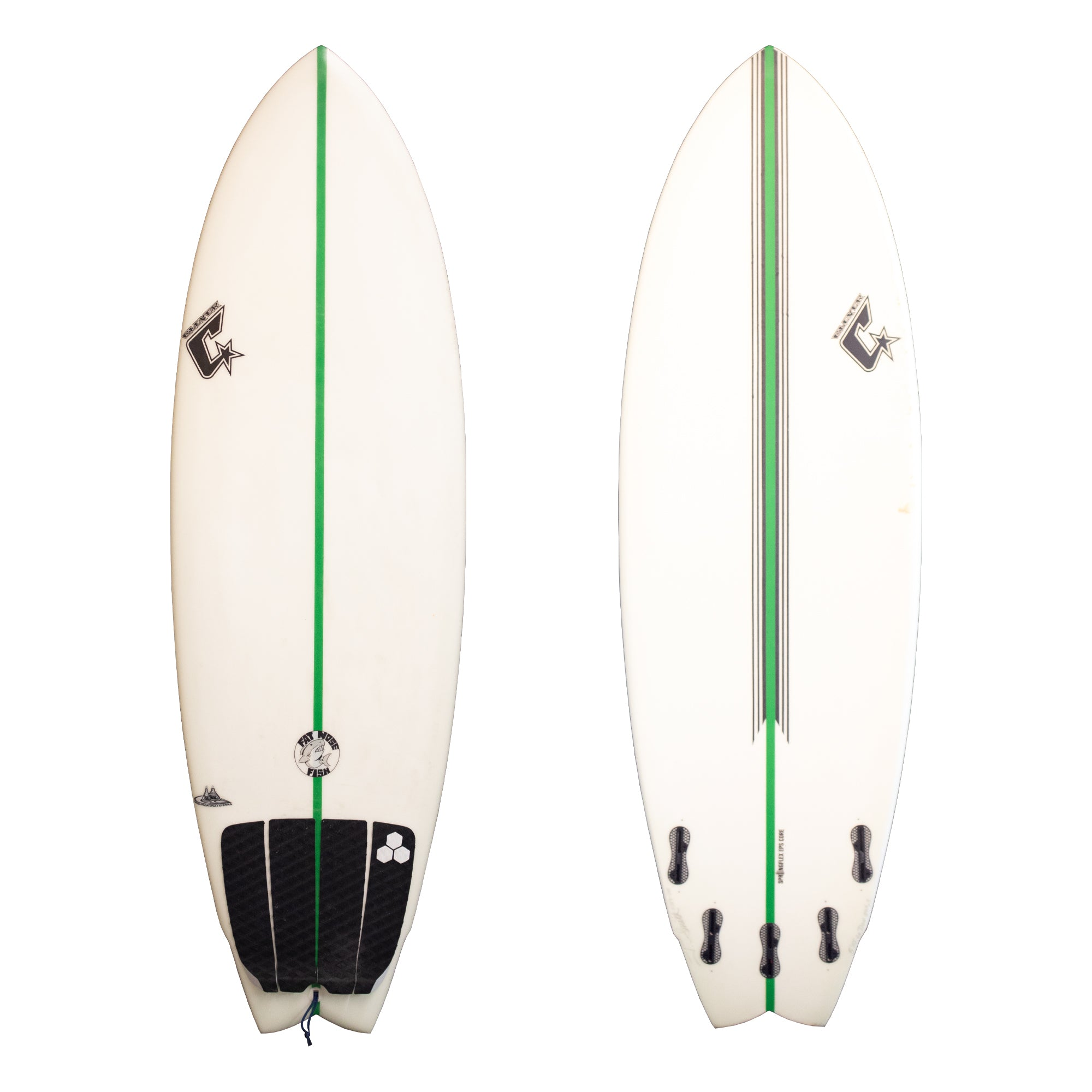 Clever Round Nose Fish 5'10 Used Surfboard