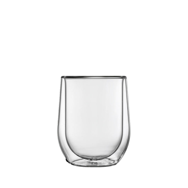 Corkcicle Glass Stemless Cup Set (2) - Clear