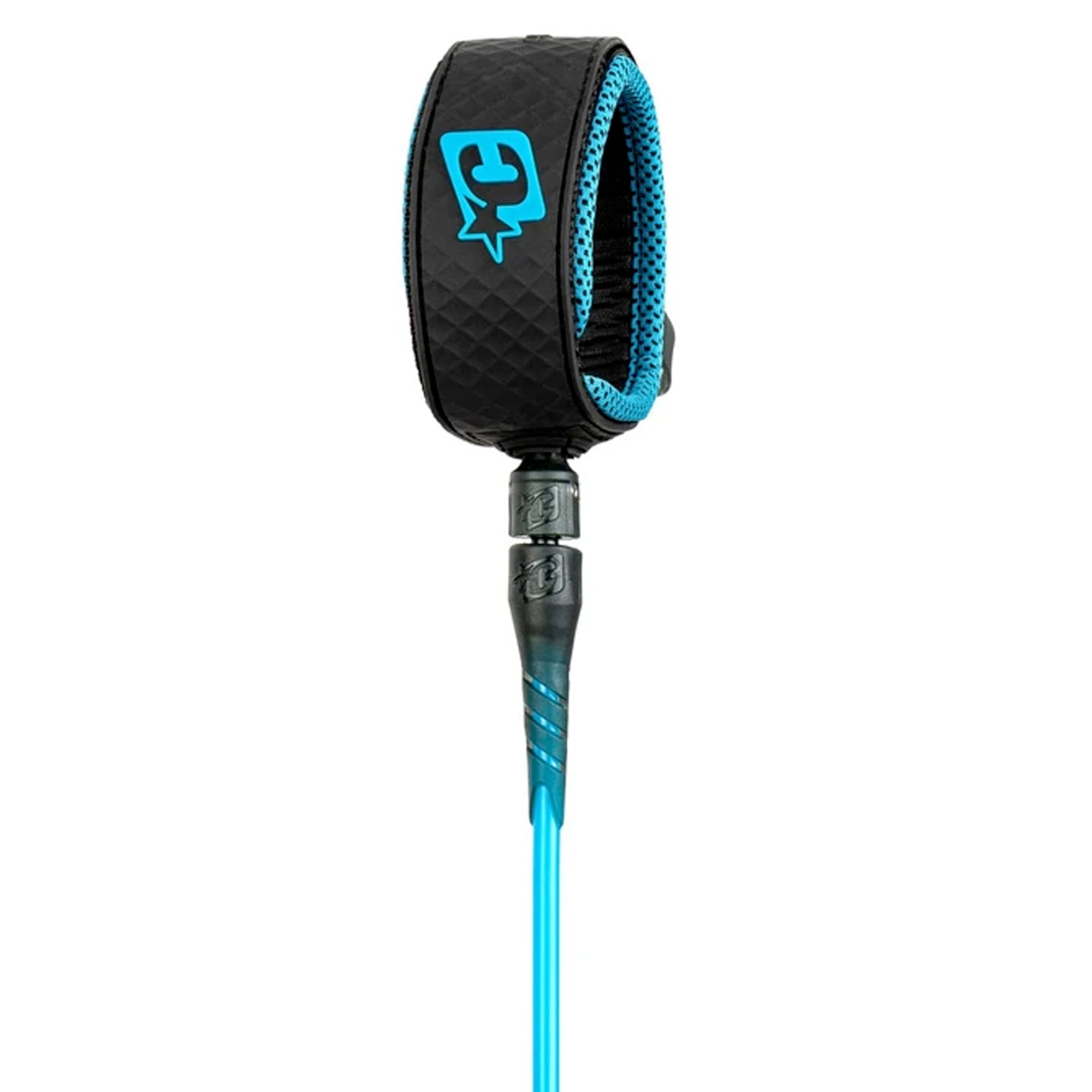 Creatures of Leisure Reliance Pro 6' Surfboard Leash - Cyan/Black