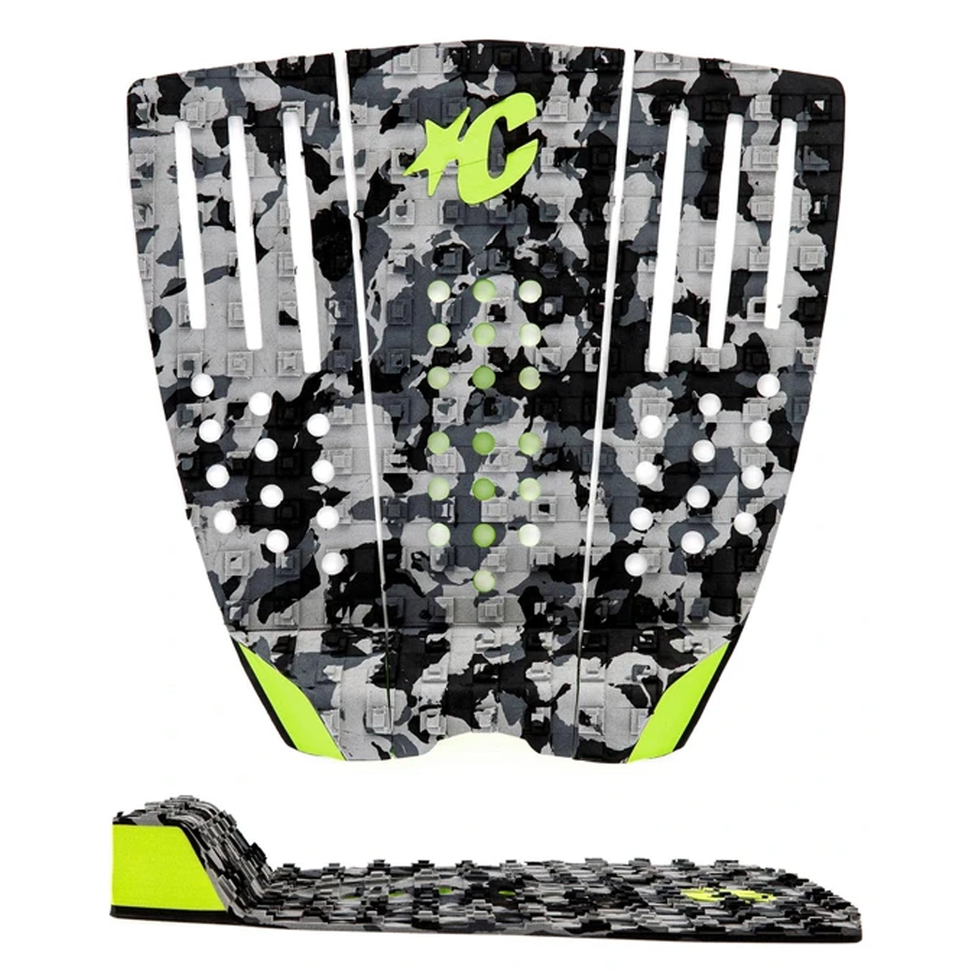 Creatures of Leisure Reliance III Traction Pad - Charcoal Camo Lime