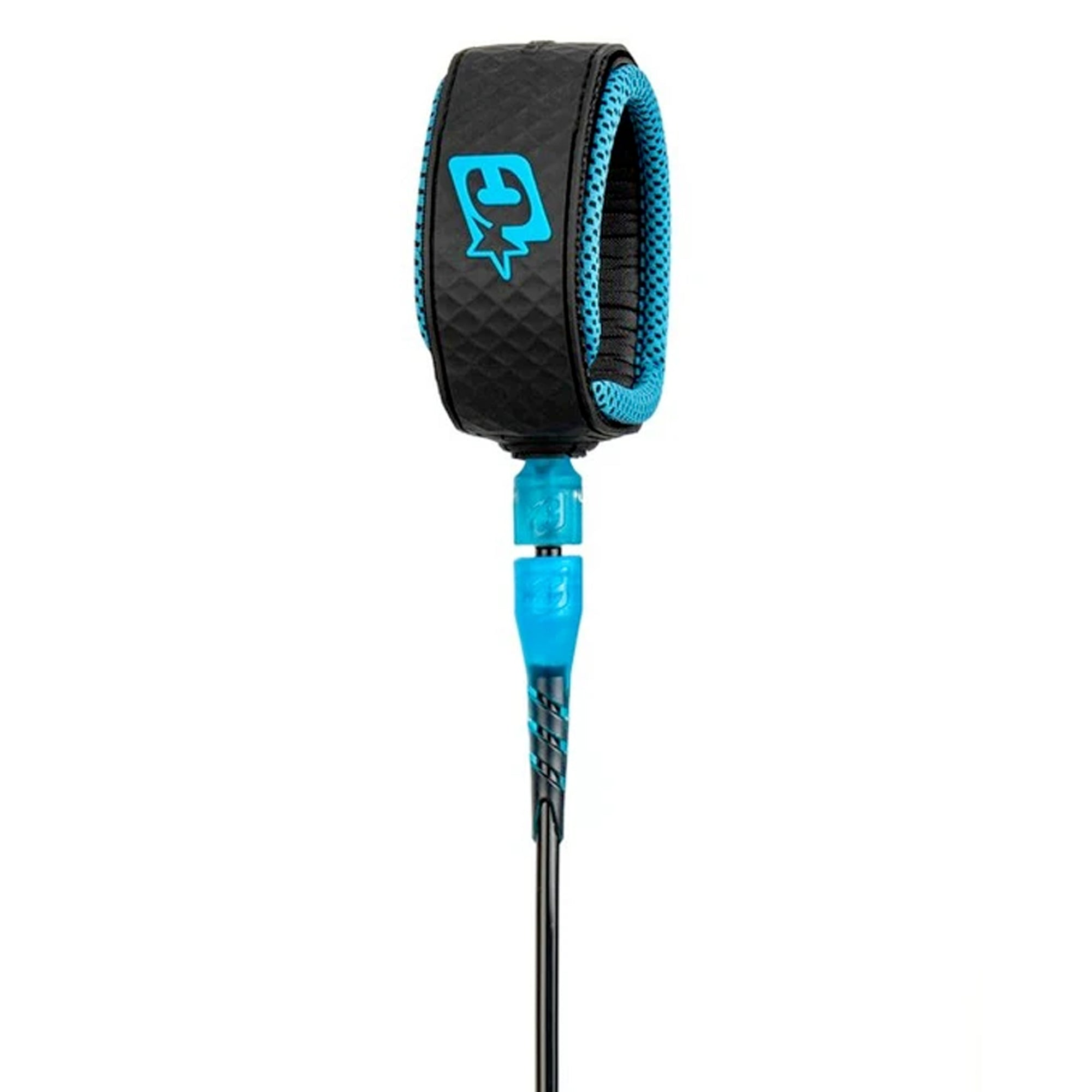 Creatures of Leisure Reliance Lite 6' Surfboard Leash - Cyan/Black