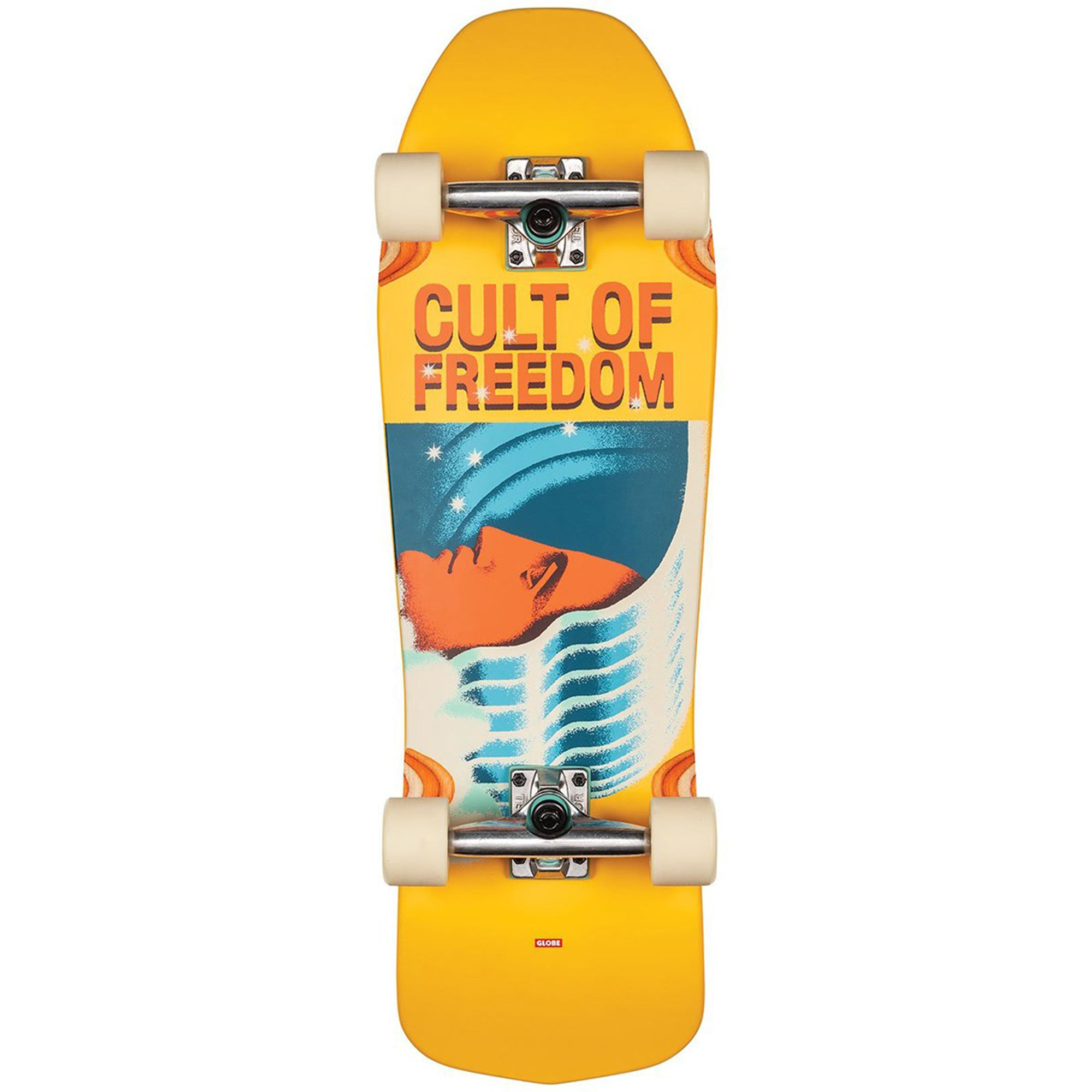 "Globe 30"" Cult of Freedom Blaster Skateboard - Wavehead"