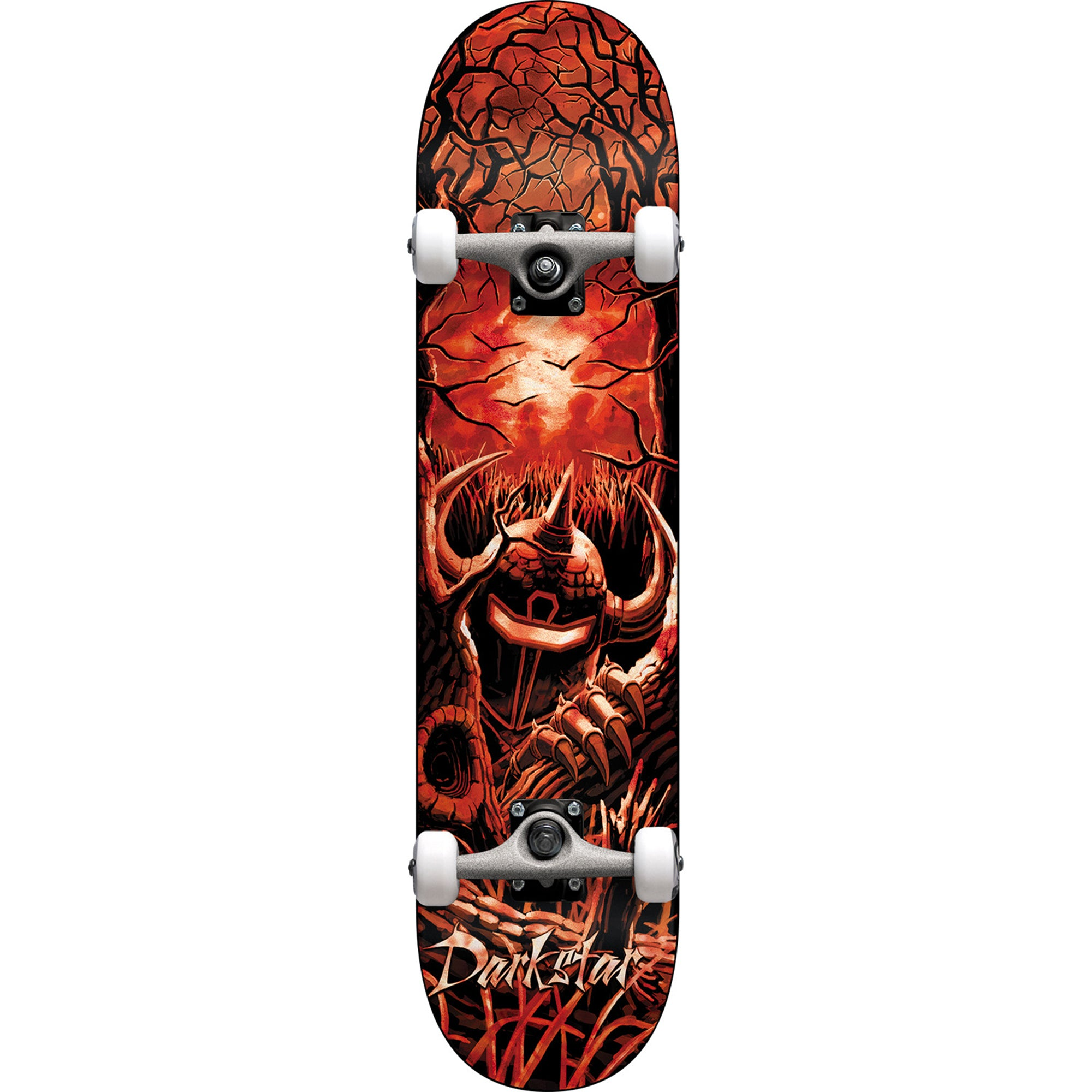 Darkstar Woods 8.12 Complete Skateboard - Red Tie Dye