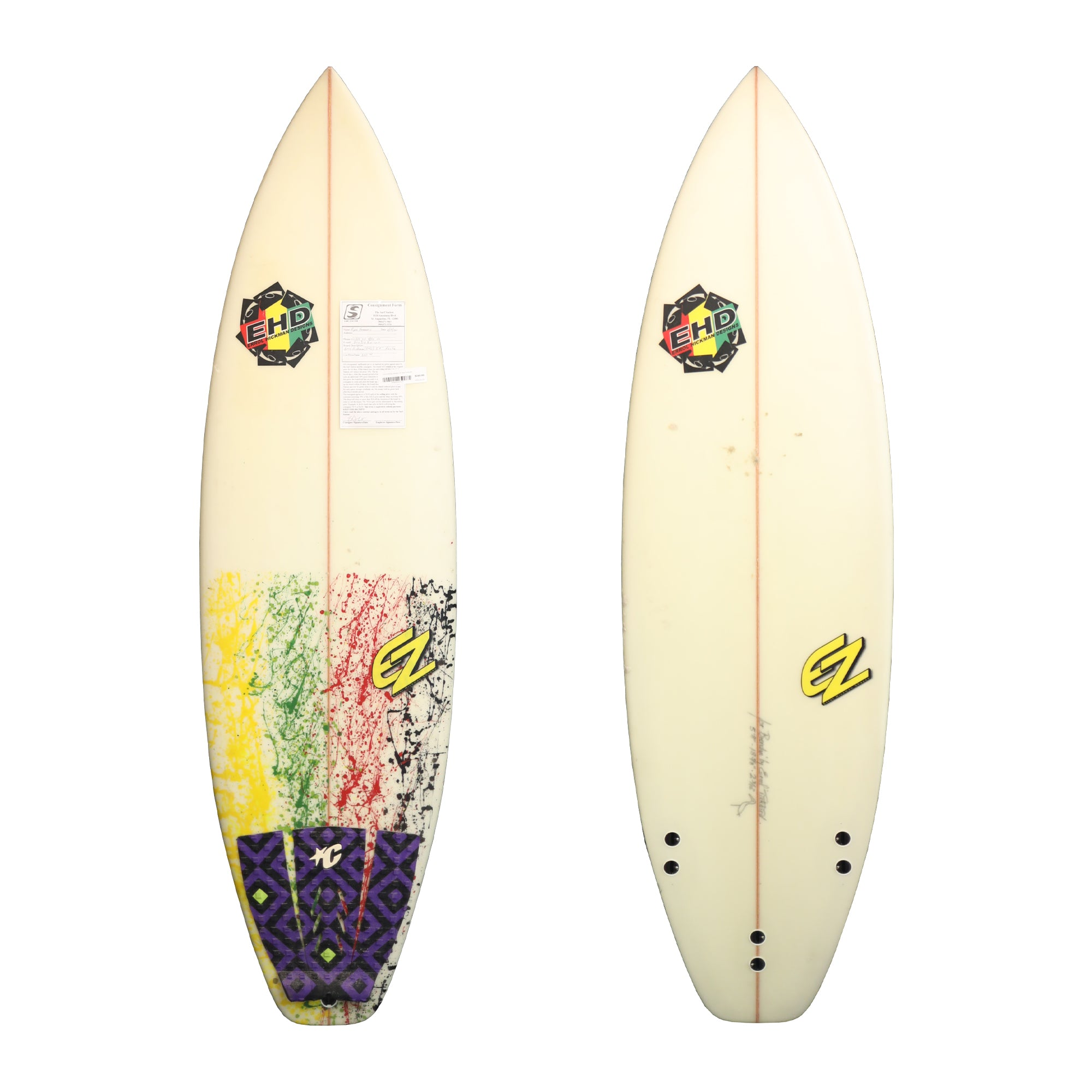 Errol Hickman Designs 5'8 Used Surfboard