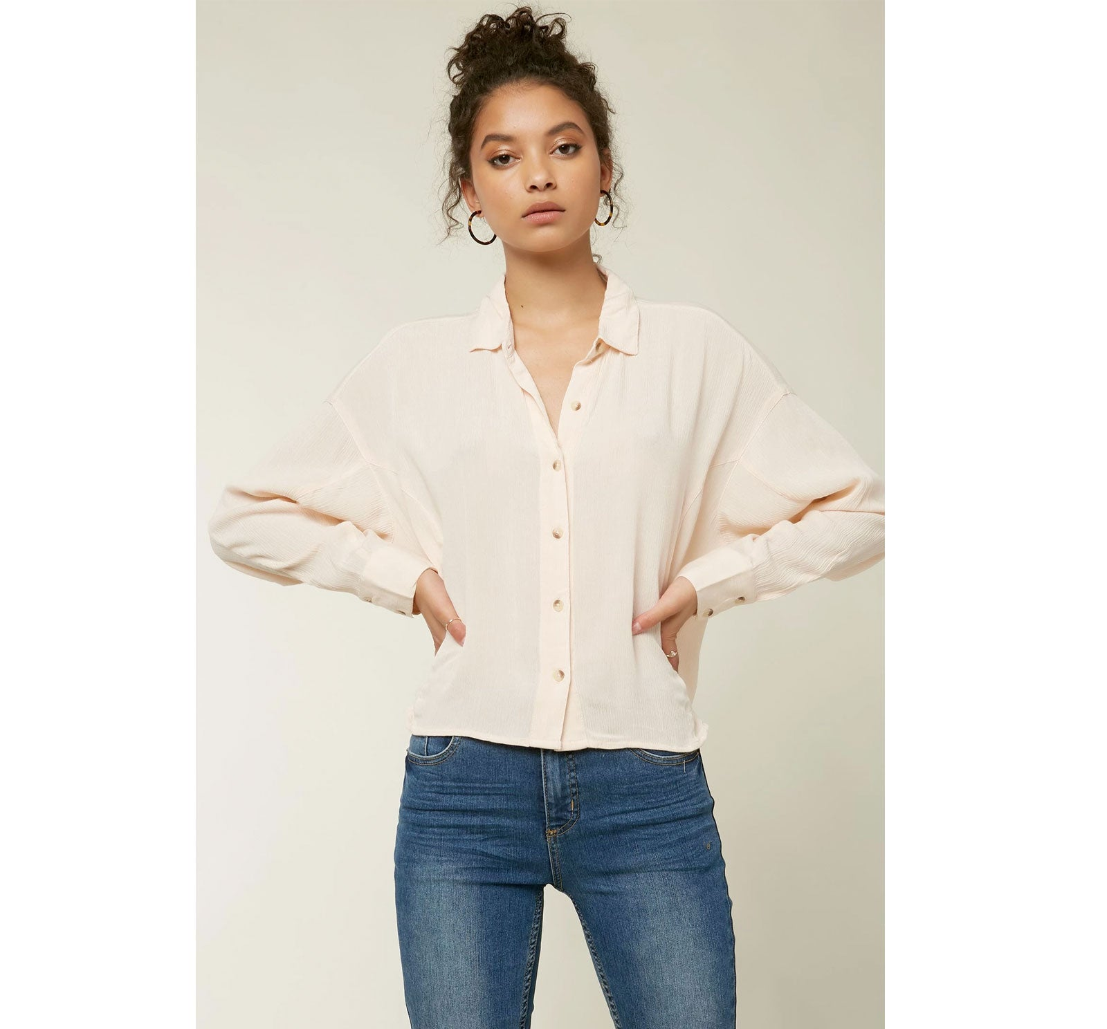 O'Neill Braxton Button Up Women's Top