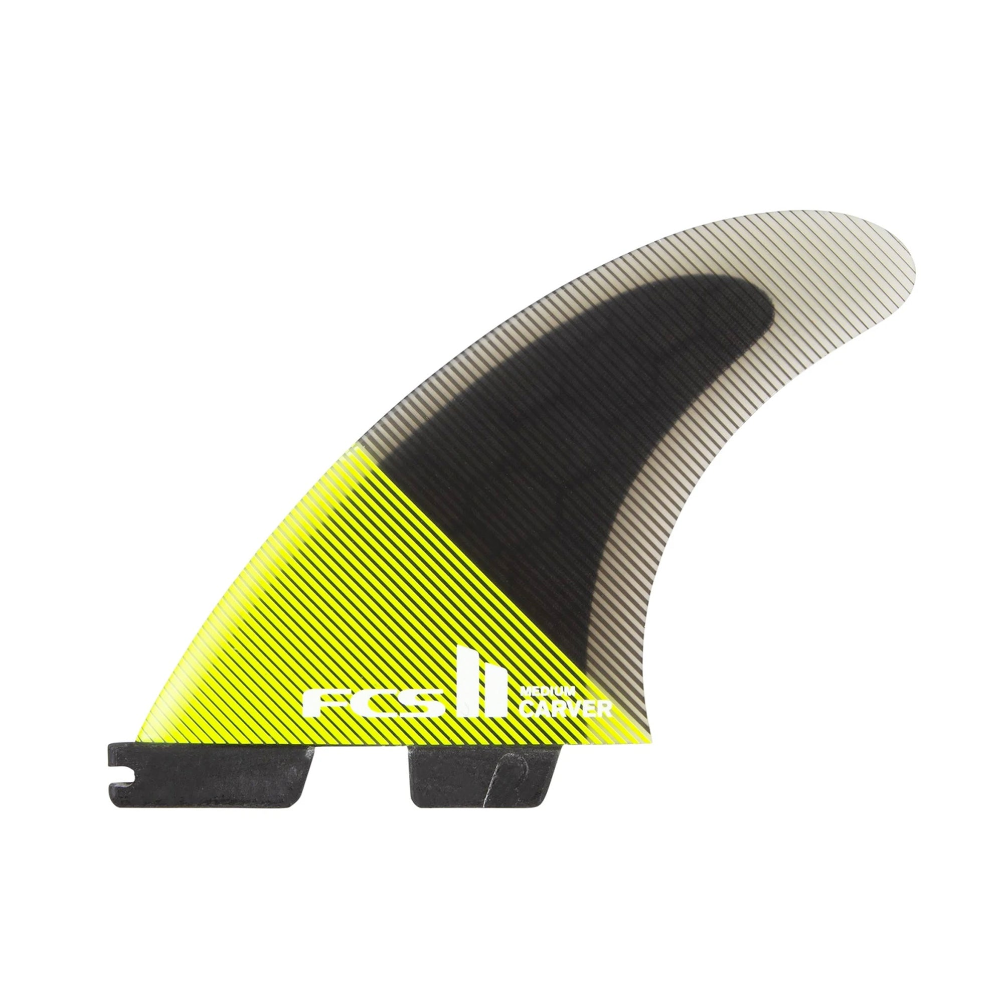 FCS II Carver PC Large Tri-Fin Set - Acid/Black