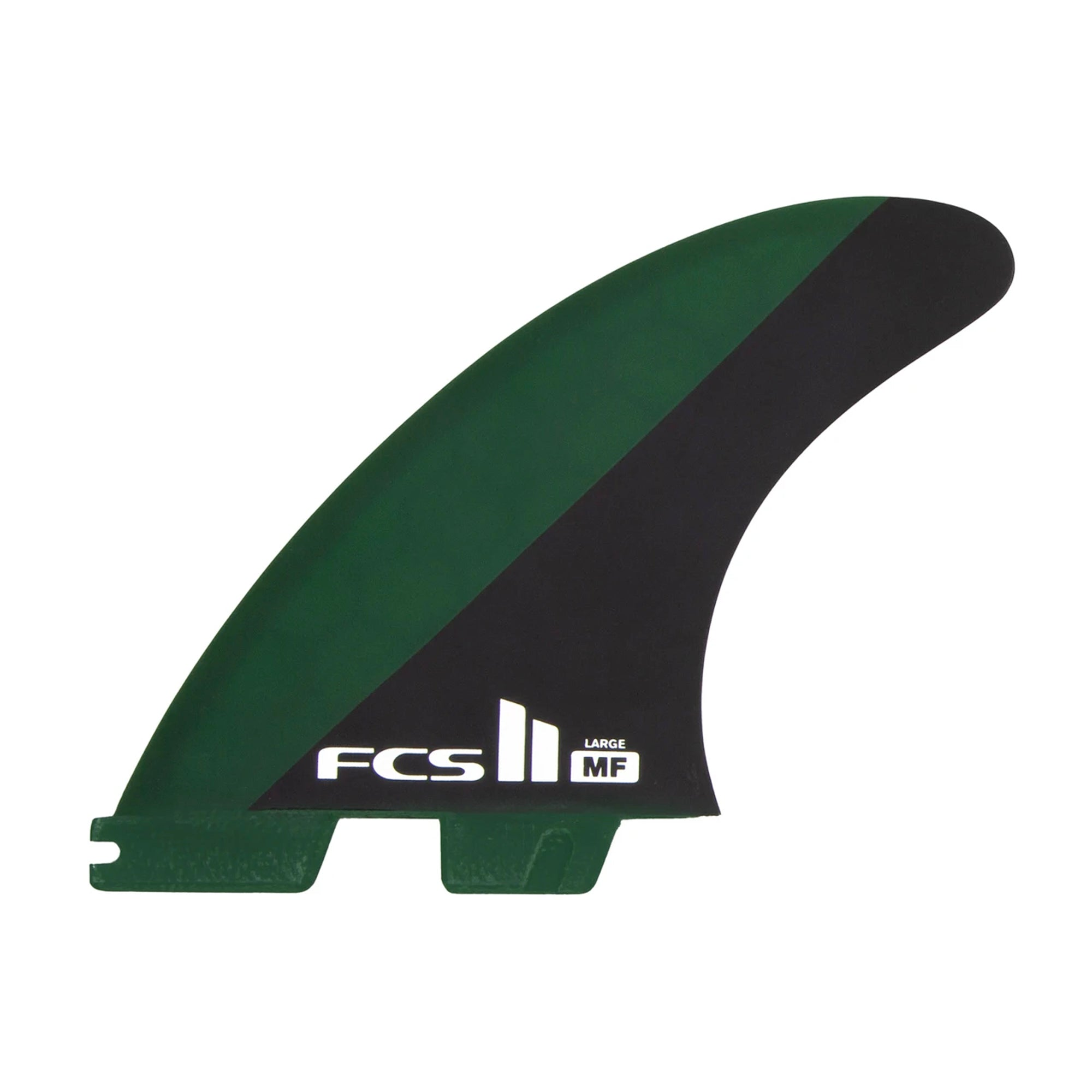 FCS II MF Performance Core Large Thruster Fin Set - Black/Olive