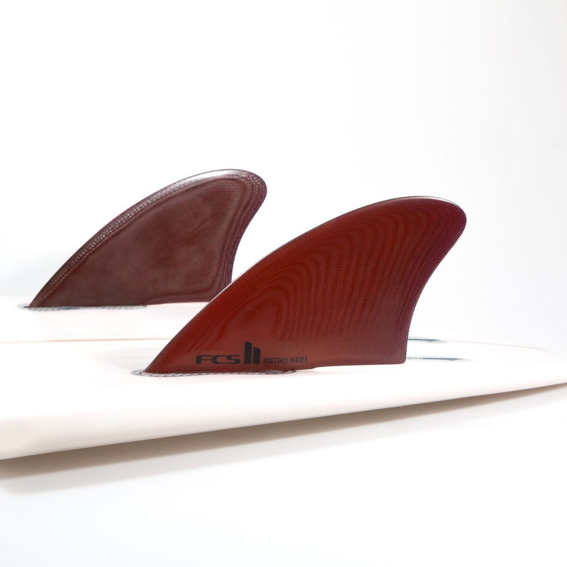 FCS II Retro Keel Performance Glass Twin Fins