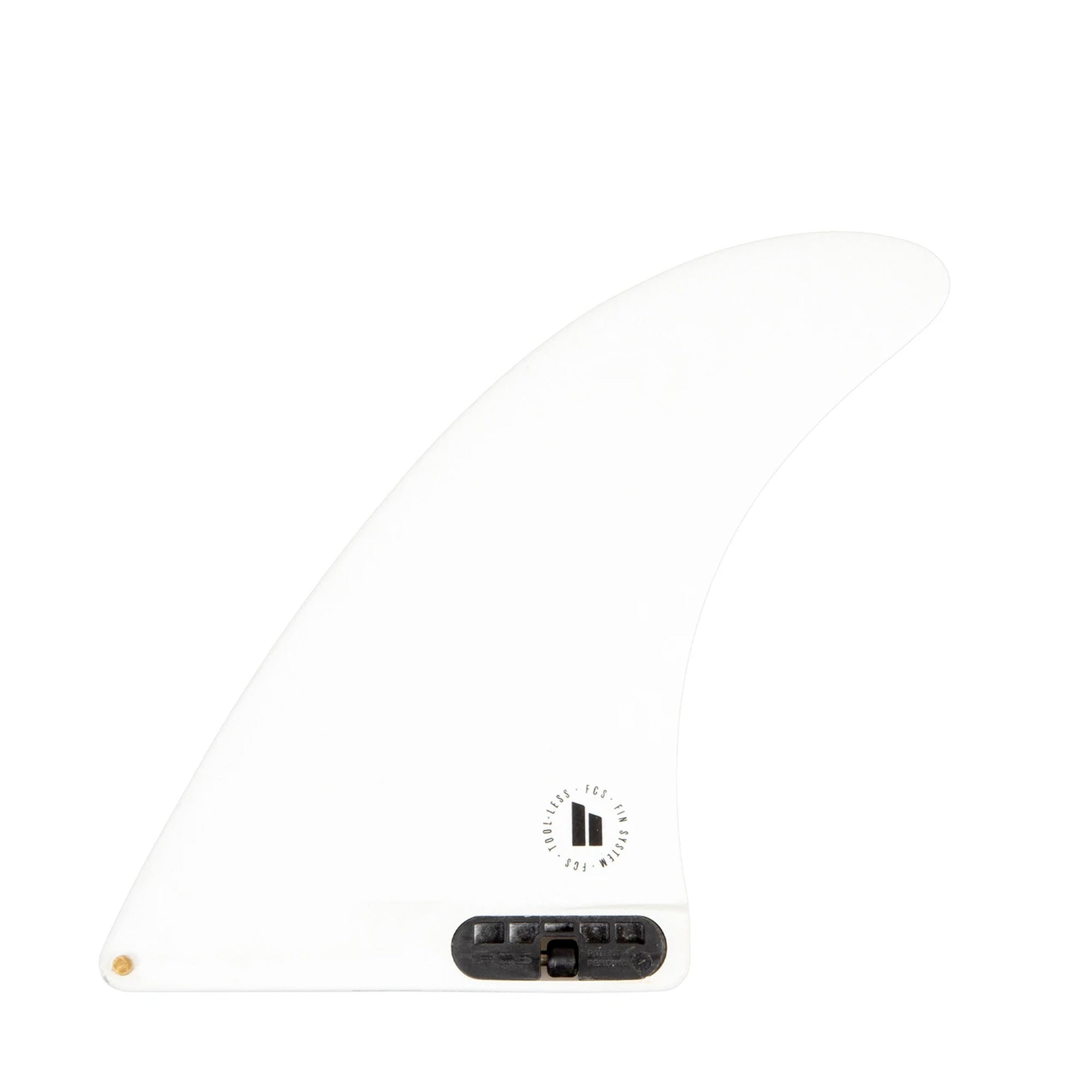 "FCS II Single Fin 7"" Longboard Fin - White"