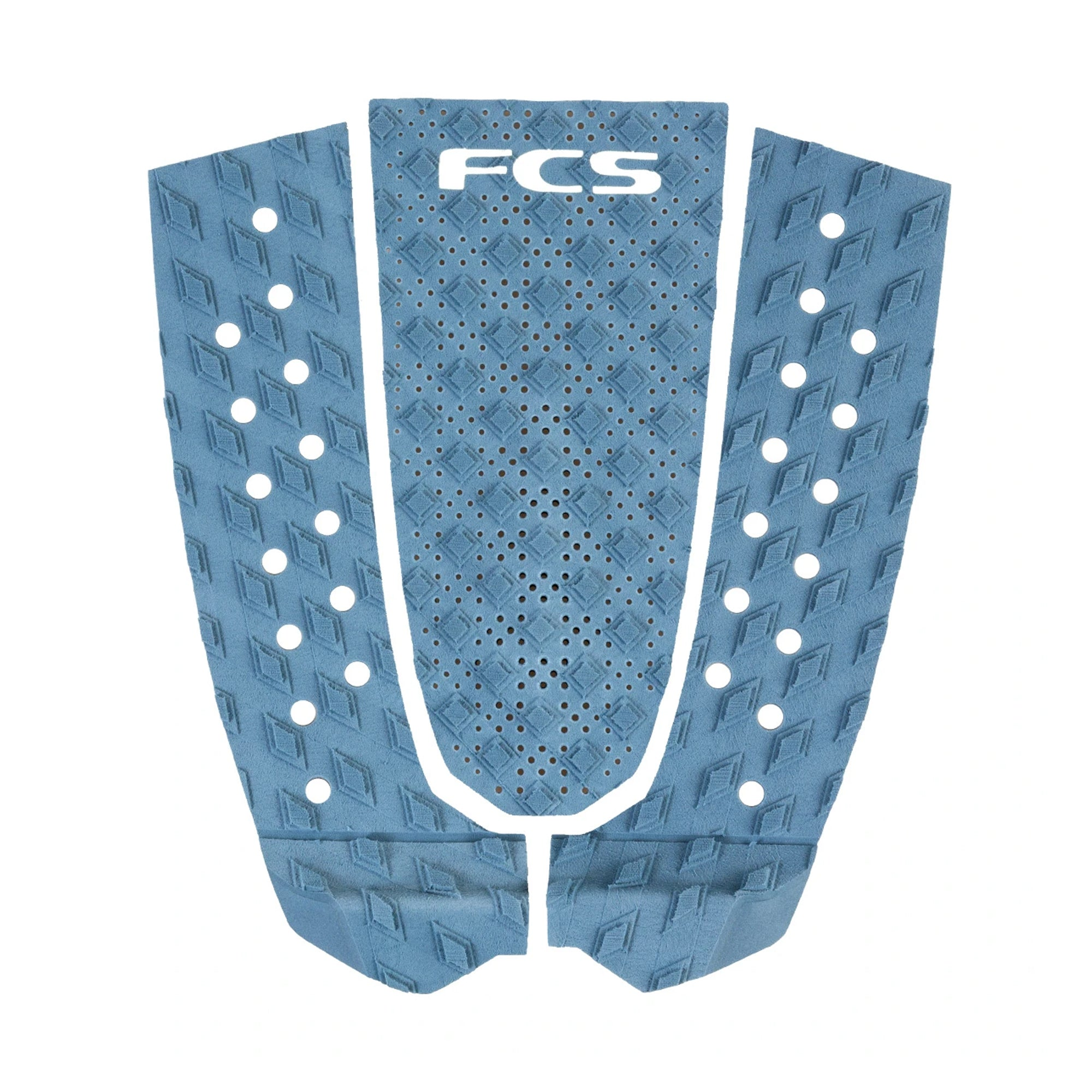 FCS T-3 Essential Series Flat Traction Pad - Dusty Blue