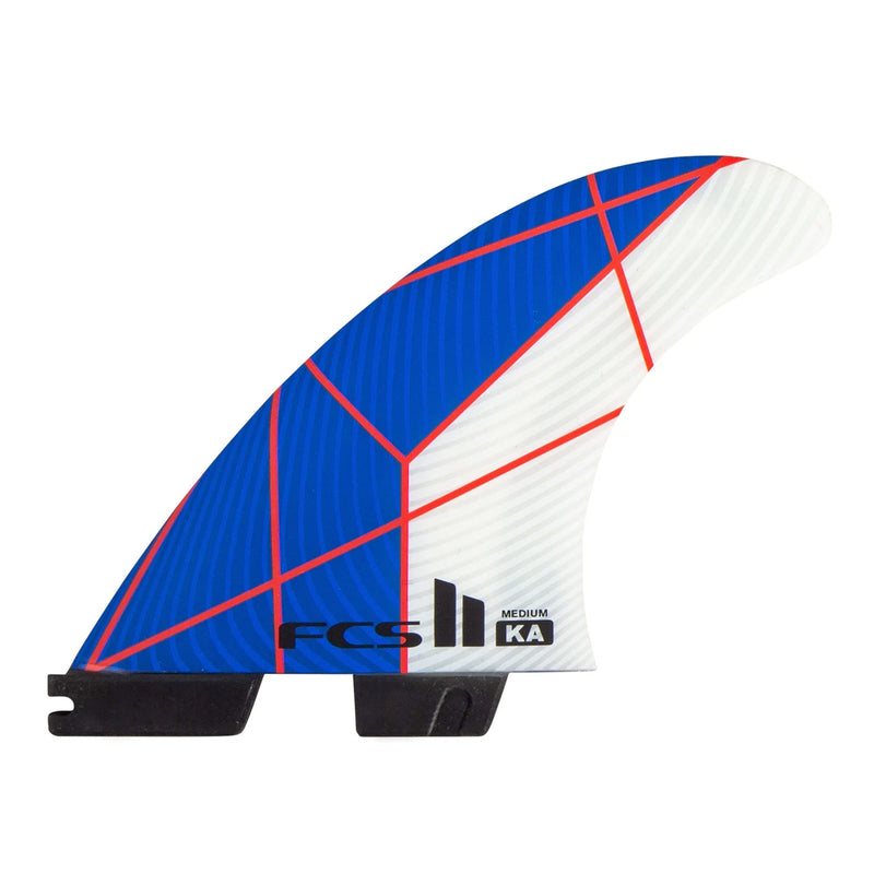FCS II KA Performance Core Medium Tri Fin Set - Blue/White