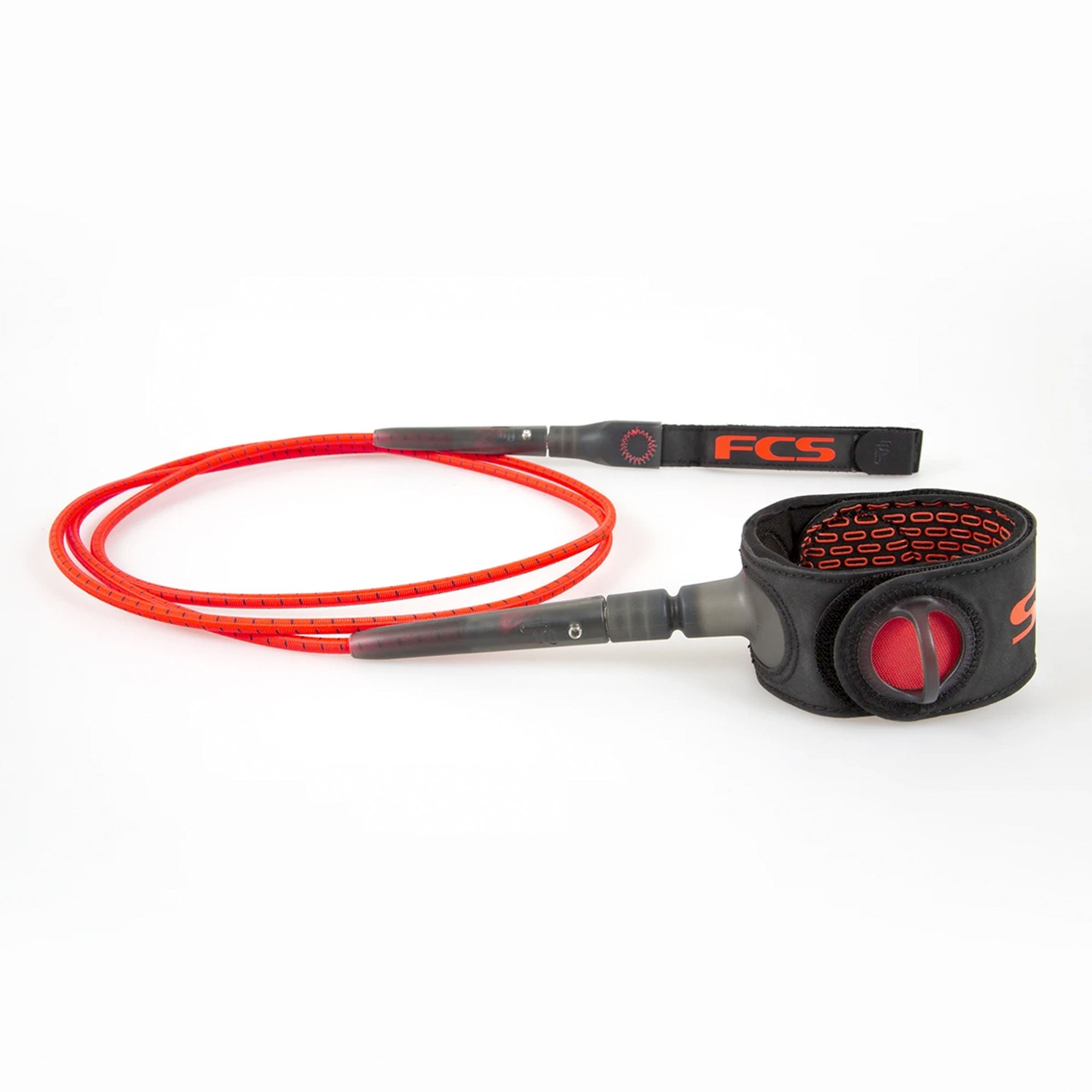 FCS Freedom 6' Surfboard Leash - Fire