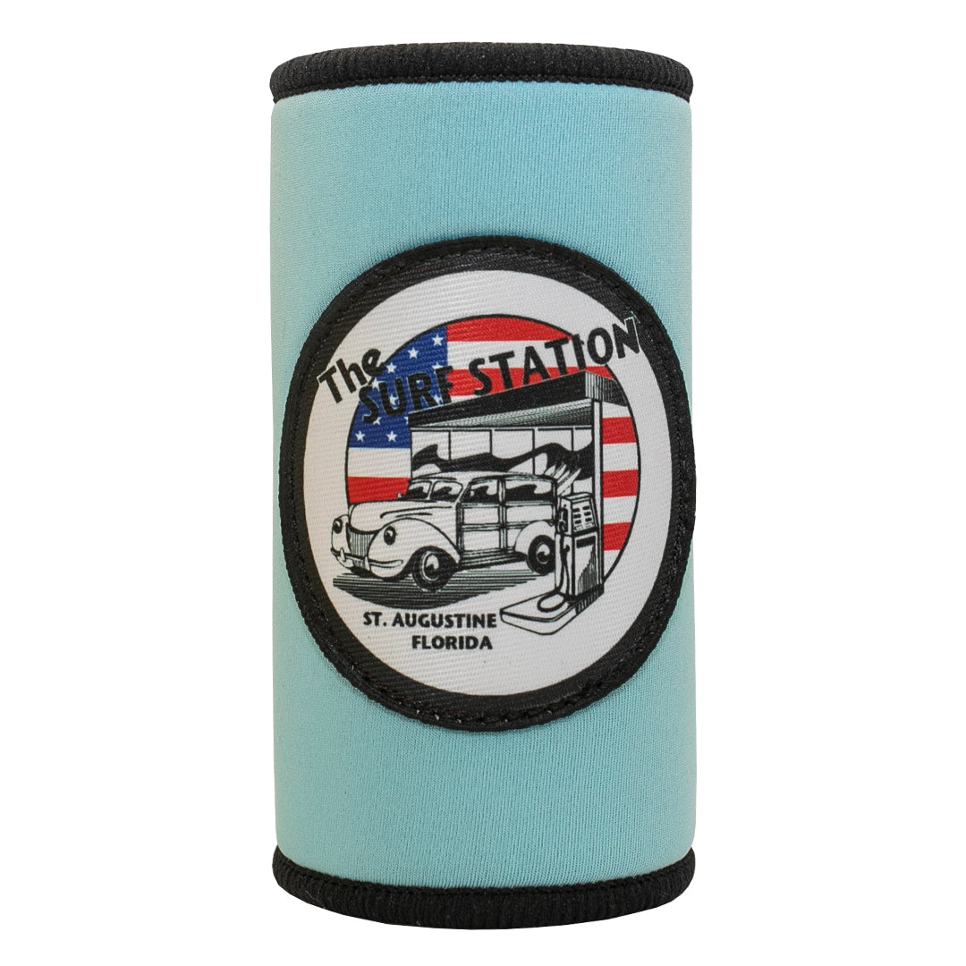 Surf Station Freedom Woody Cruzie Neoprene Slim Can Koozie