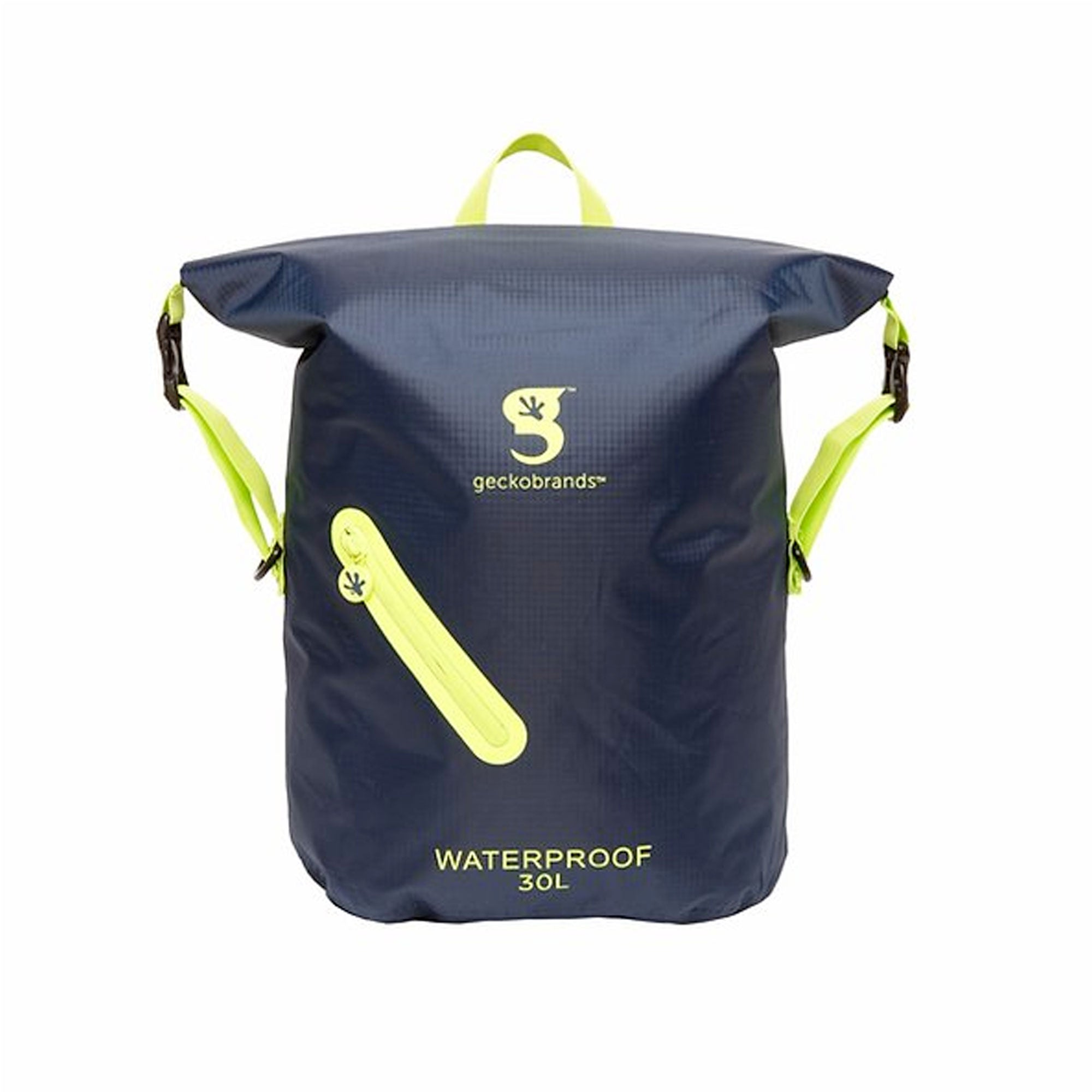 Geckobrands Lightweight 30L Waterproof Backpack - Navy/Green