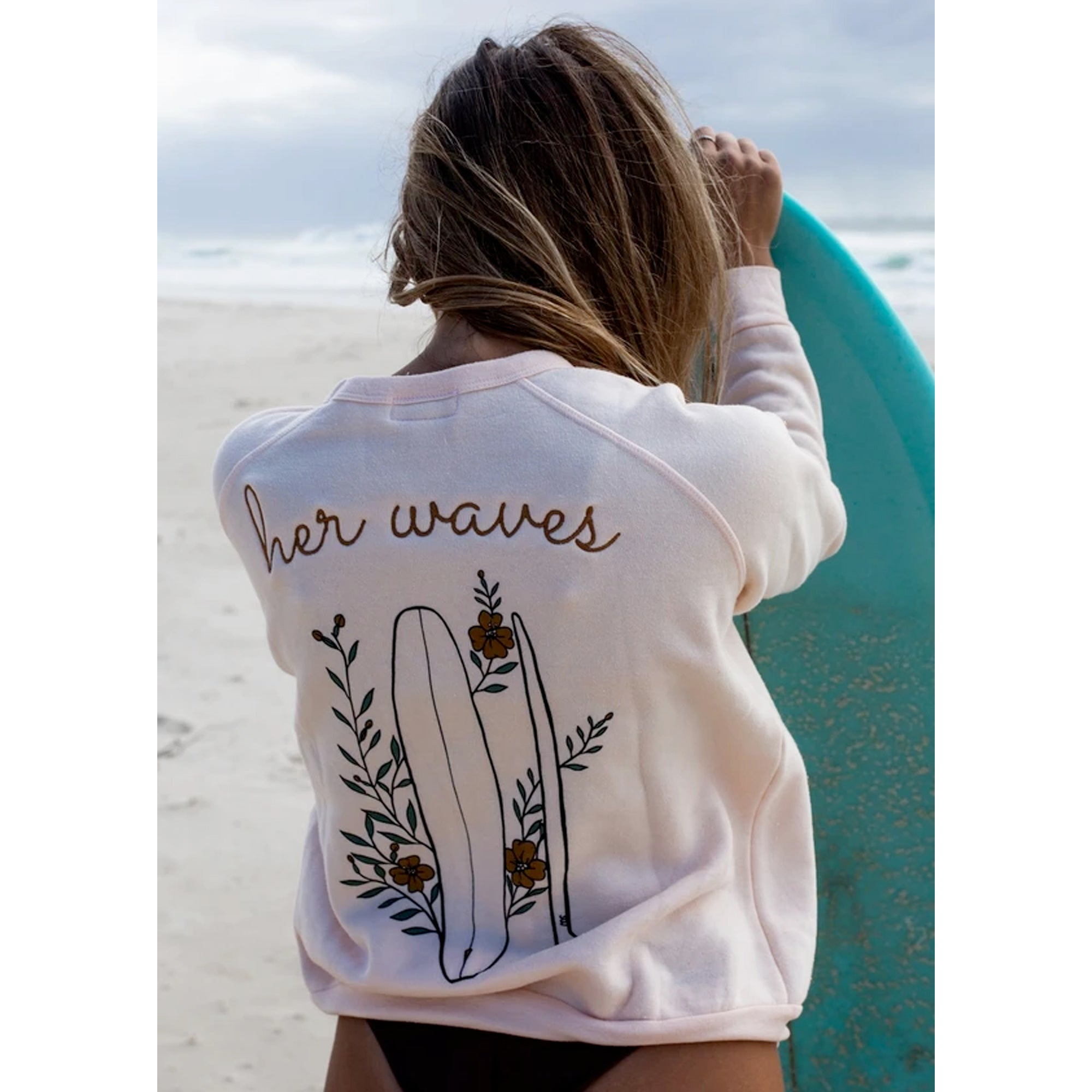Her Waves Flowers & Fins Women's Sweatshirt
