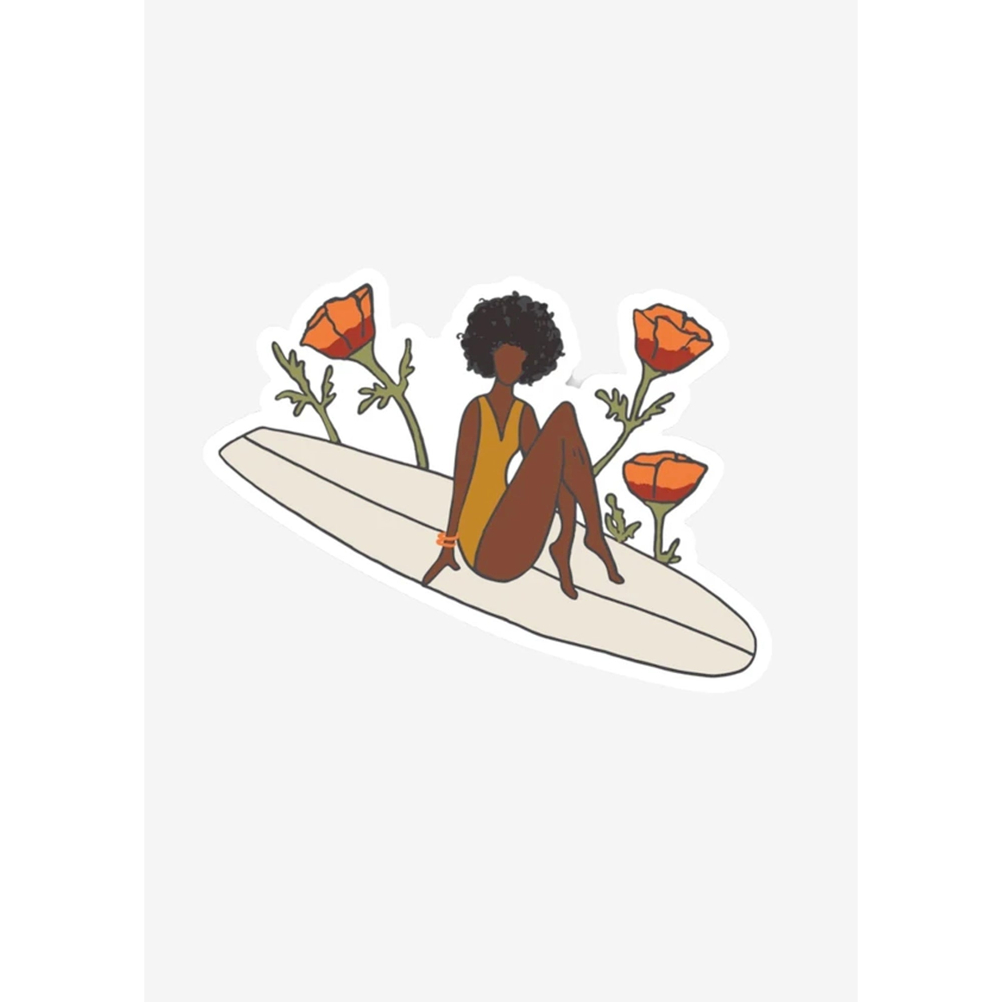 Her Waves Paddle Out For Peace Sticker