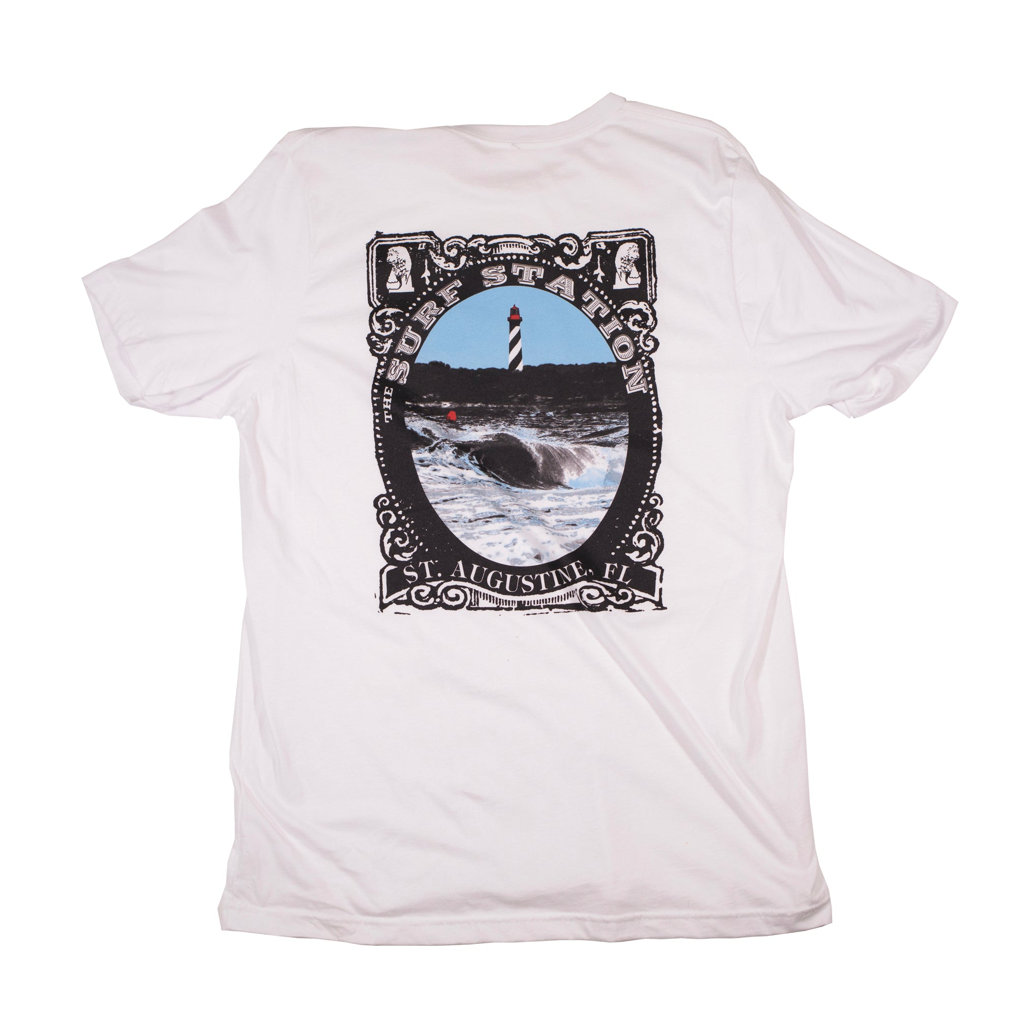 Surf Station Lighthouse Men's S/S T-Shirt