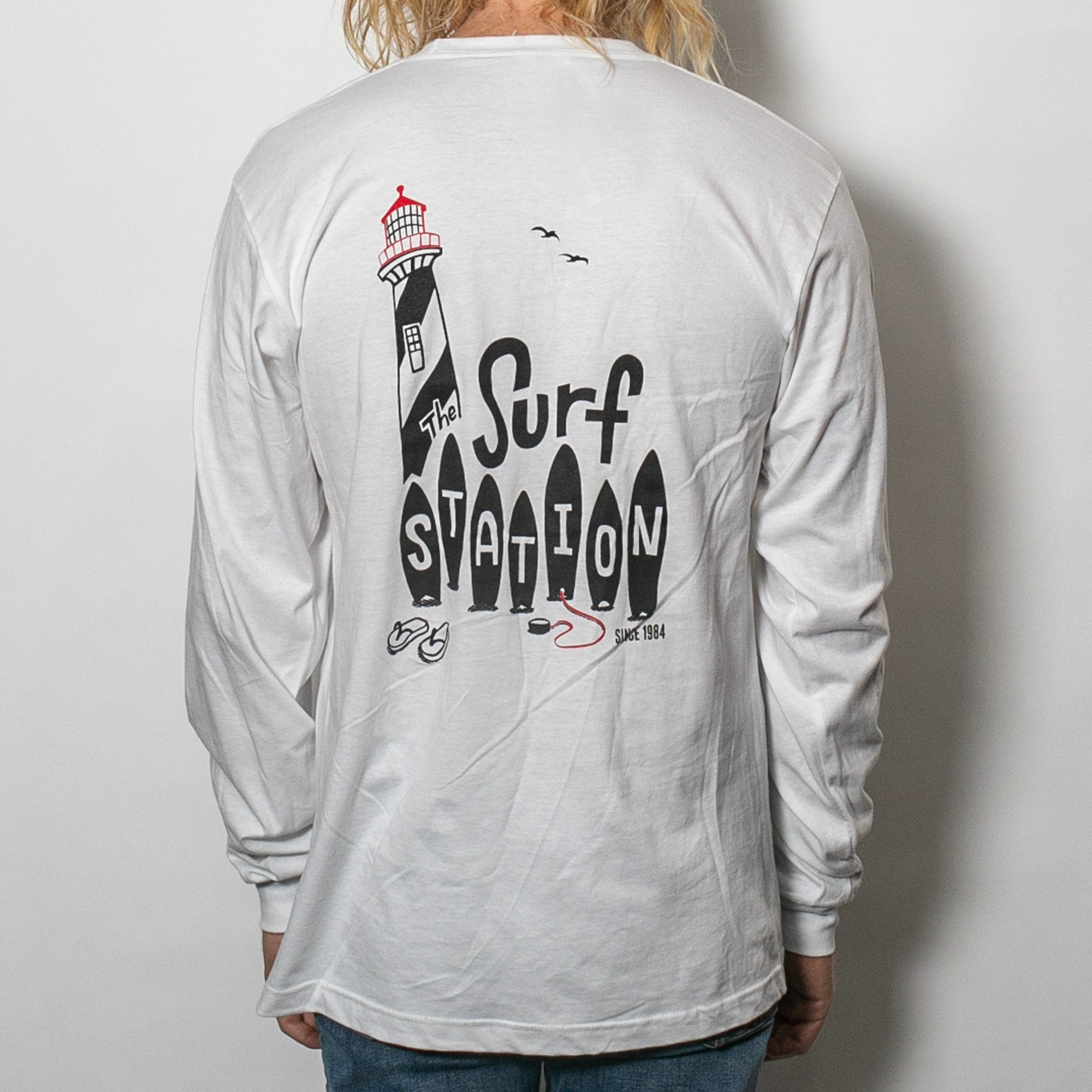 Surf Station St. Augustine Lighthouse Men's L/S T-Shirt