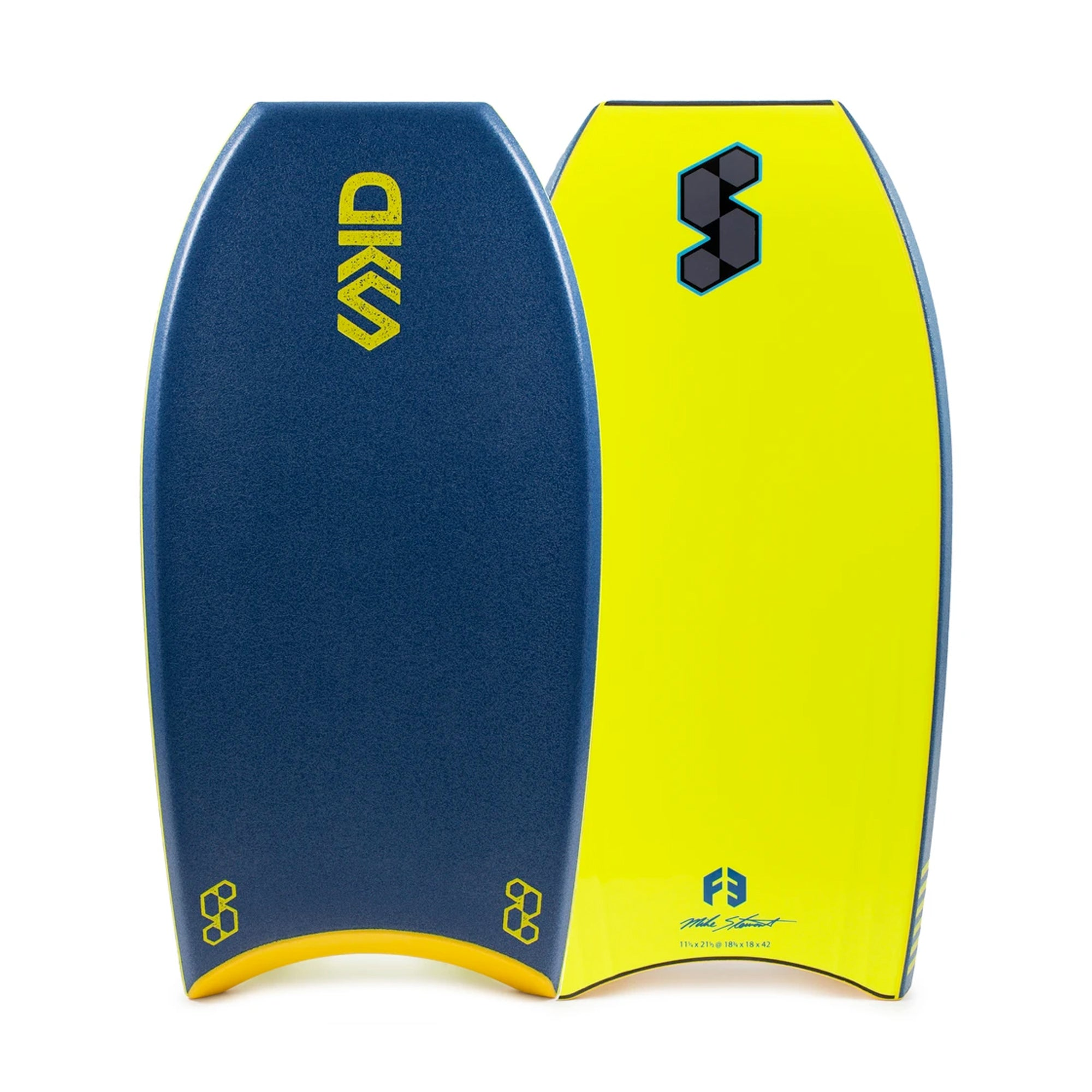 "Mike Stewart Science DKS 2.0 42"" Bodyboard - Deep Sea Green/Fluro Yellow"