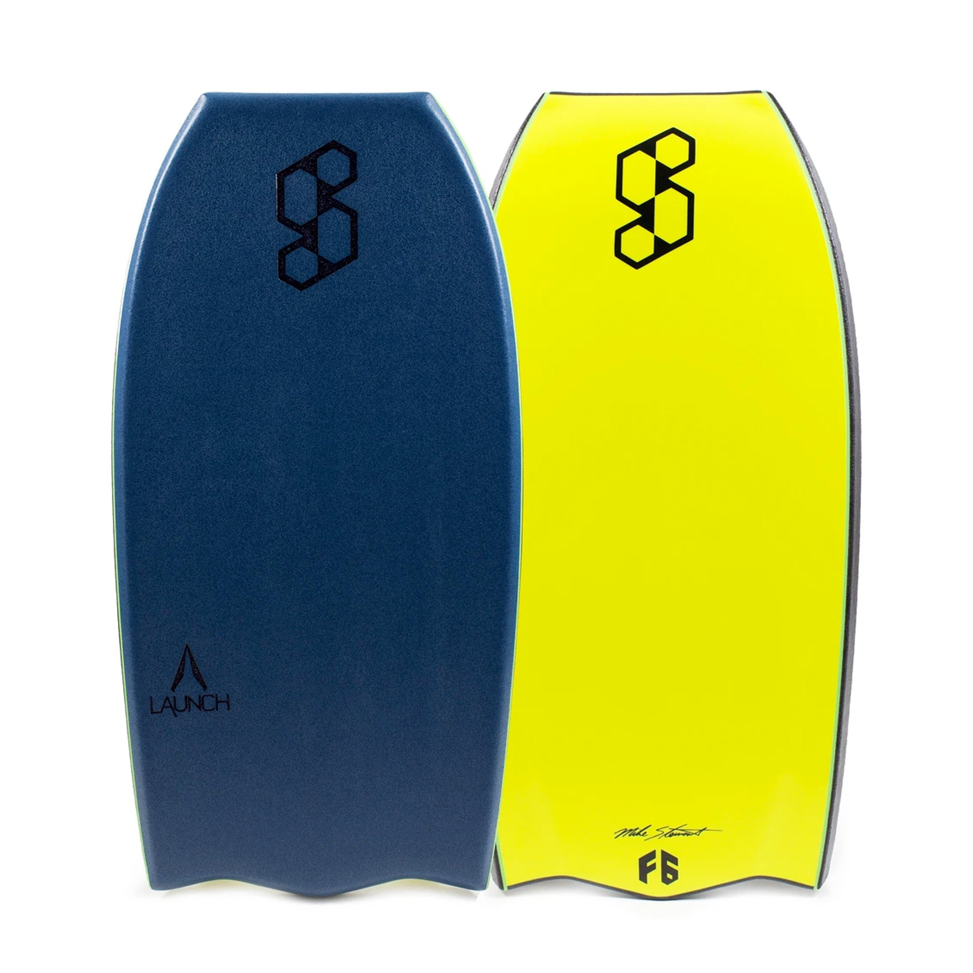 "Mike Stewart Science Launch Tech Delta Tail 42"" Bodyboard - Deep Sea Green/Black/Fluro Yellow"