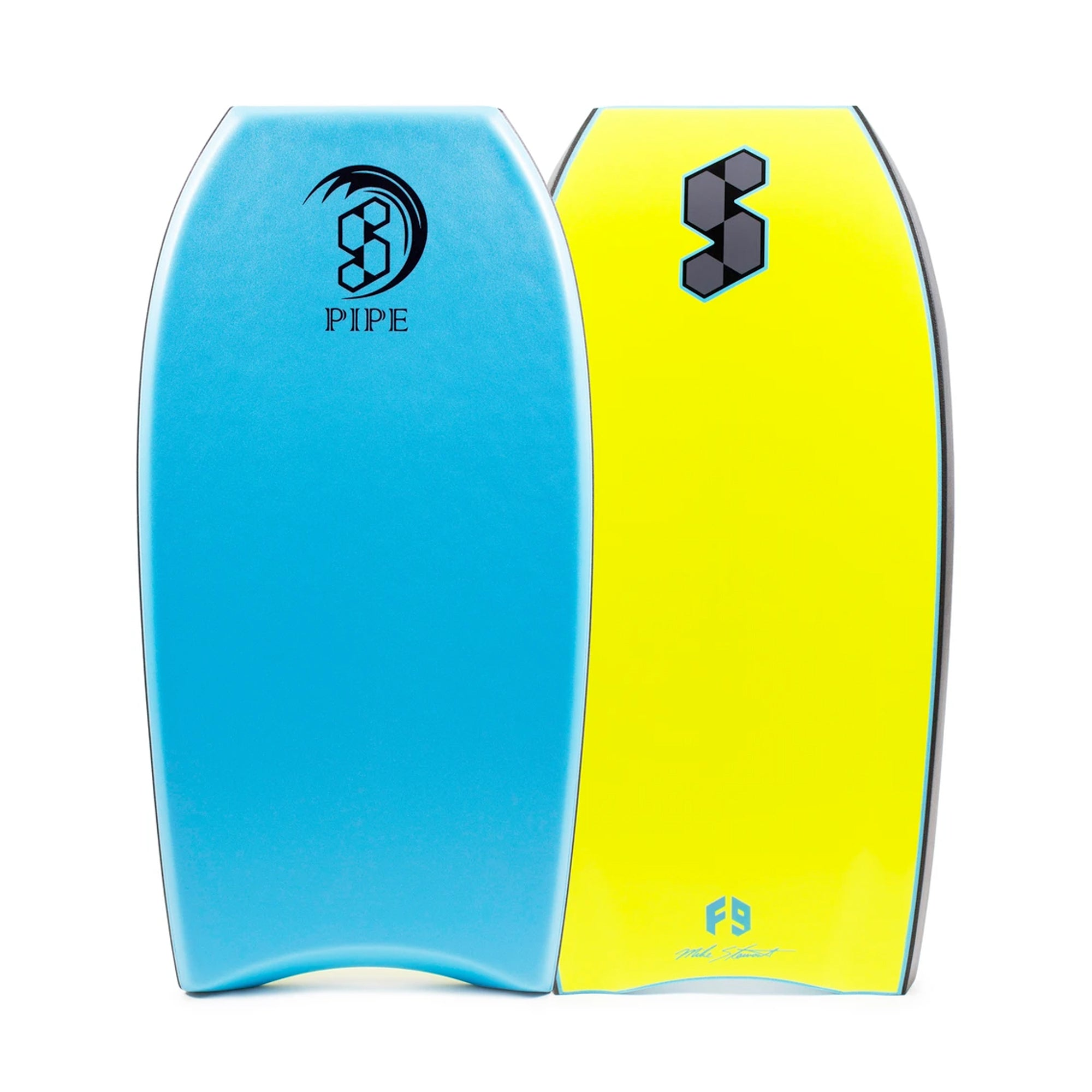 "Mike Stewart Science Pipe 1X 42"" Bodyboard - Aqua/Black/Fluro Yellow"