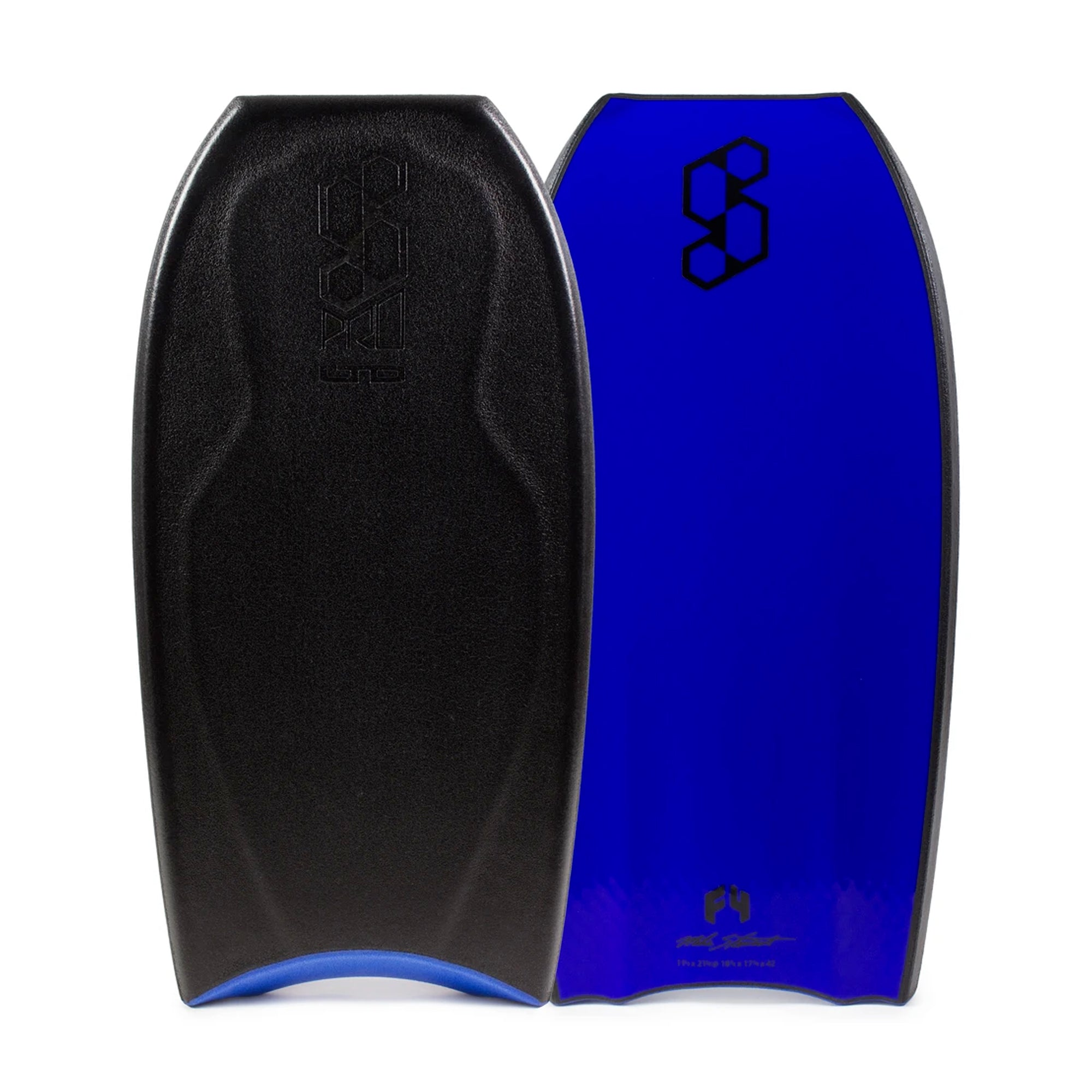 "Mike Stewart Science Pro LTD TriQuad 42"" Bodyboard - Black/Electric Blue"
