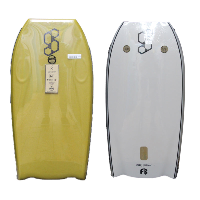 "Mike Stewart Science Pocket Tech BT 44"" Bodyboard - Mustard/White"