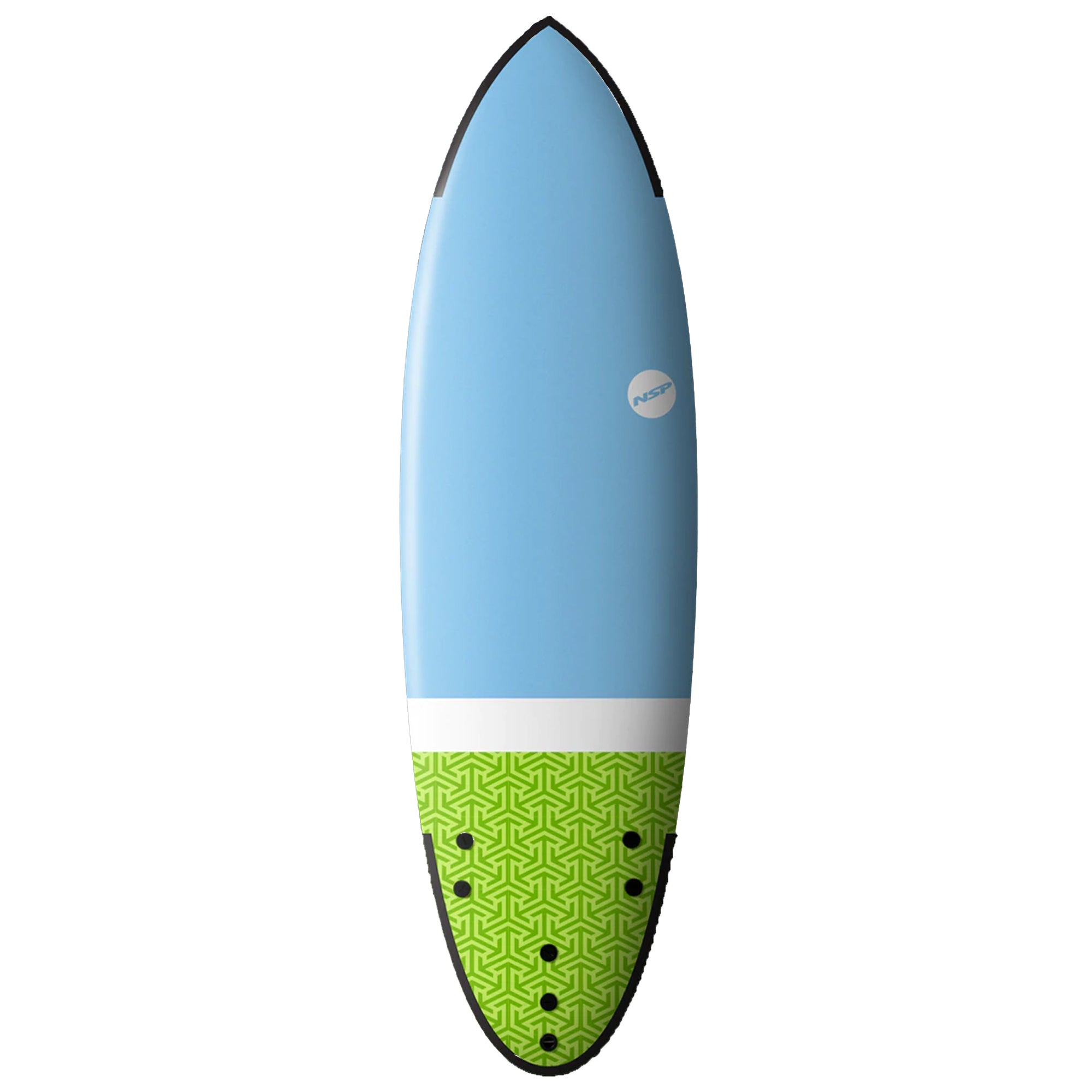 NSP Hybrid 5'9 Soft Surfboard - Blue