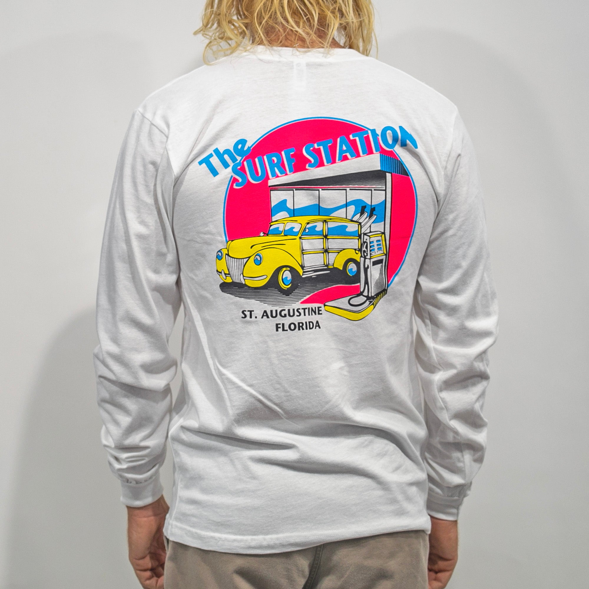 Surf Station Neon Woody Men's L/S T-Shirt