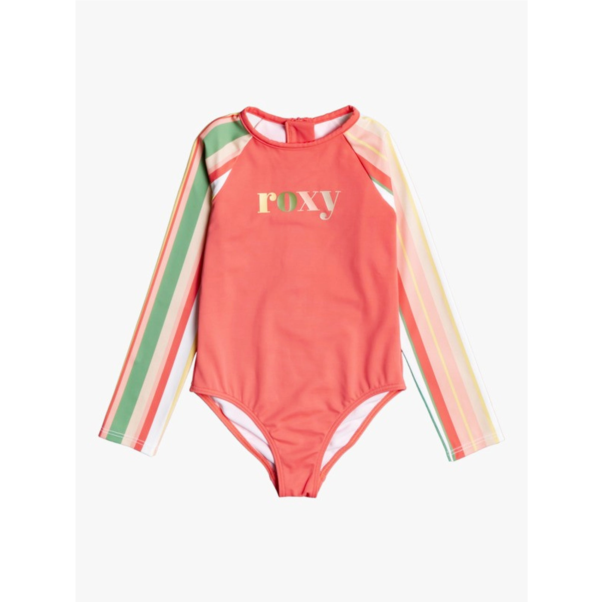 Roxy Stripy Sky Youth Girl's L/S Onesie Bathing Suit