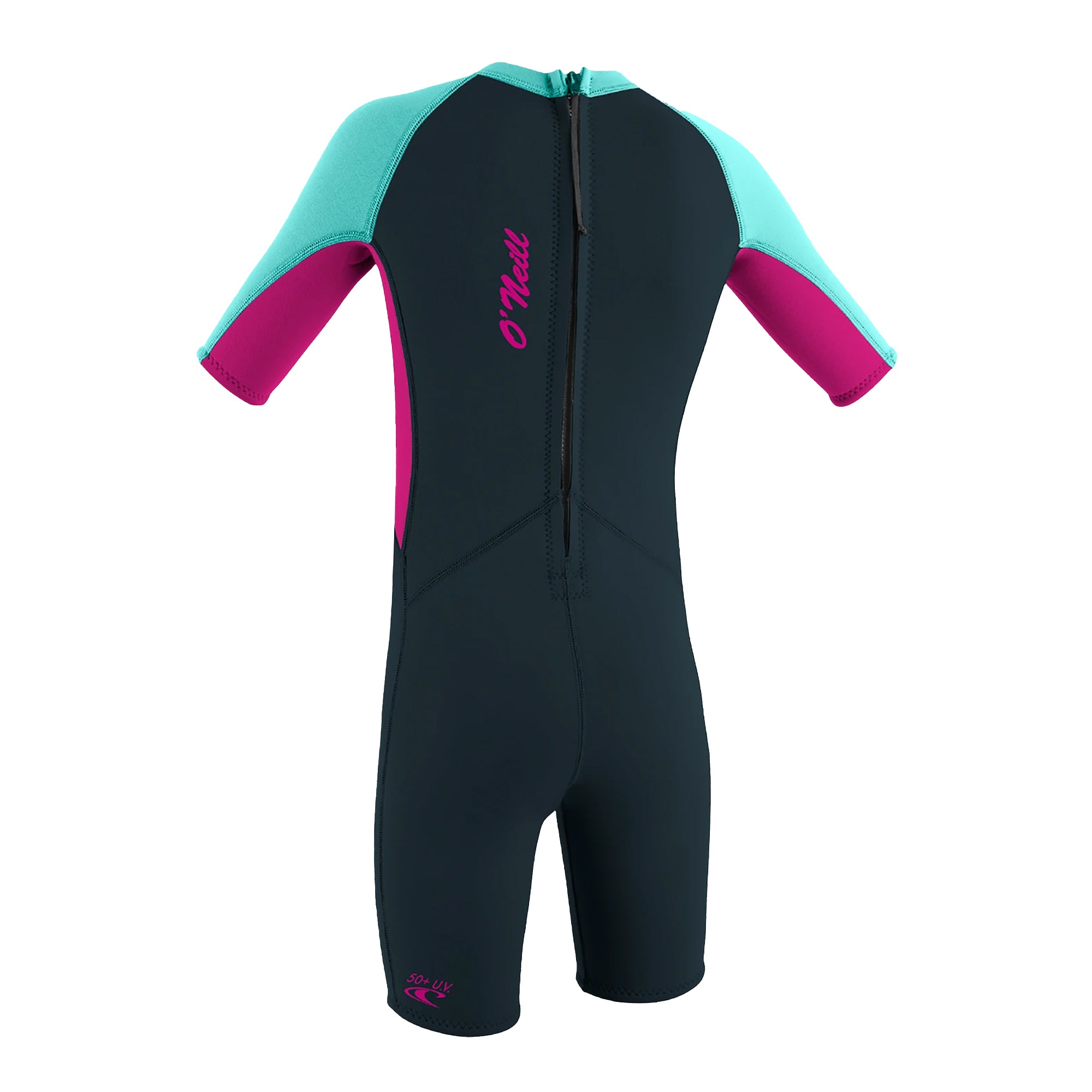 O'Neill Reactor II 2mm Toddler Girl's Back-Zip Spring Suit Wetsuit