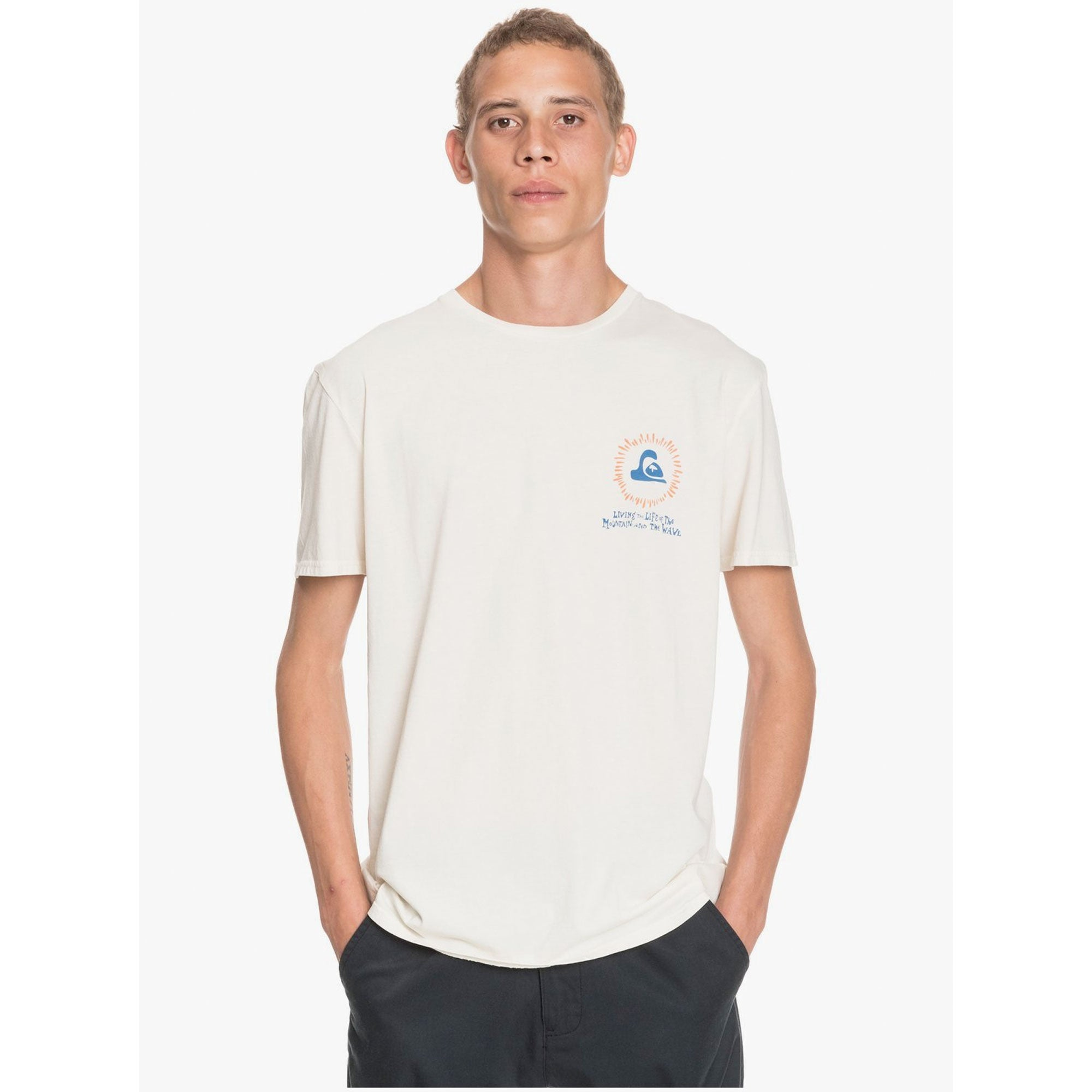 Quiksilver Pier Bowl Men's S/S T-shirt White