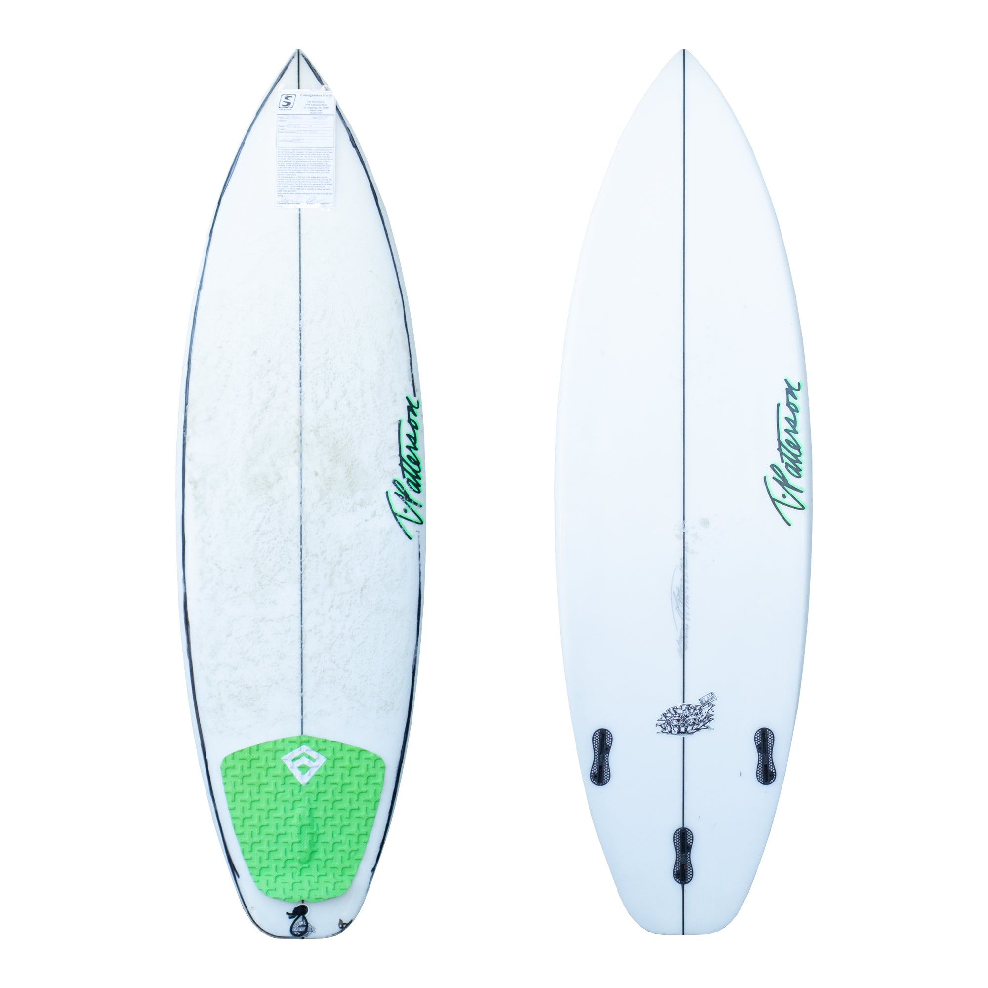T. Patterson Clam 5'8 Used Surfboard