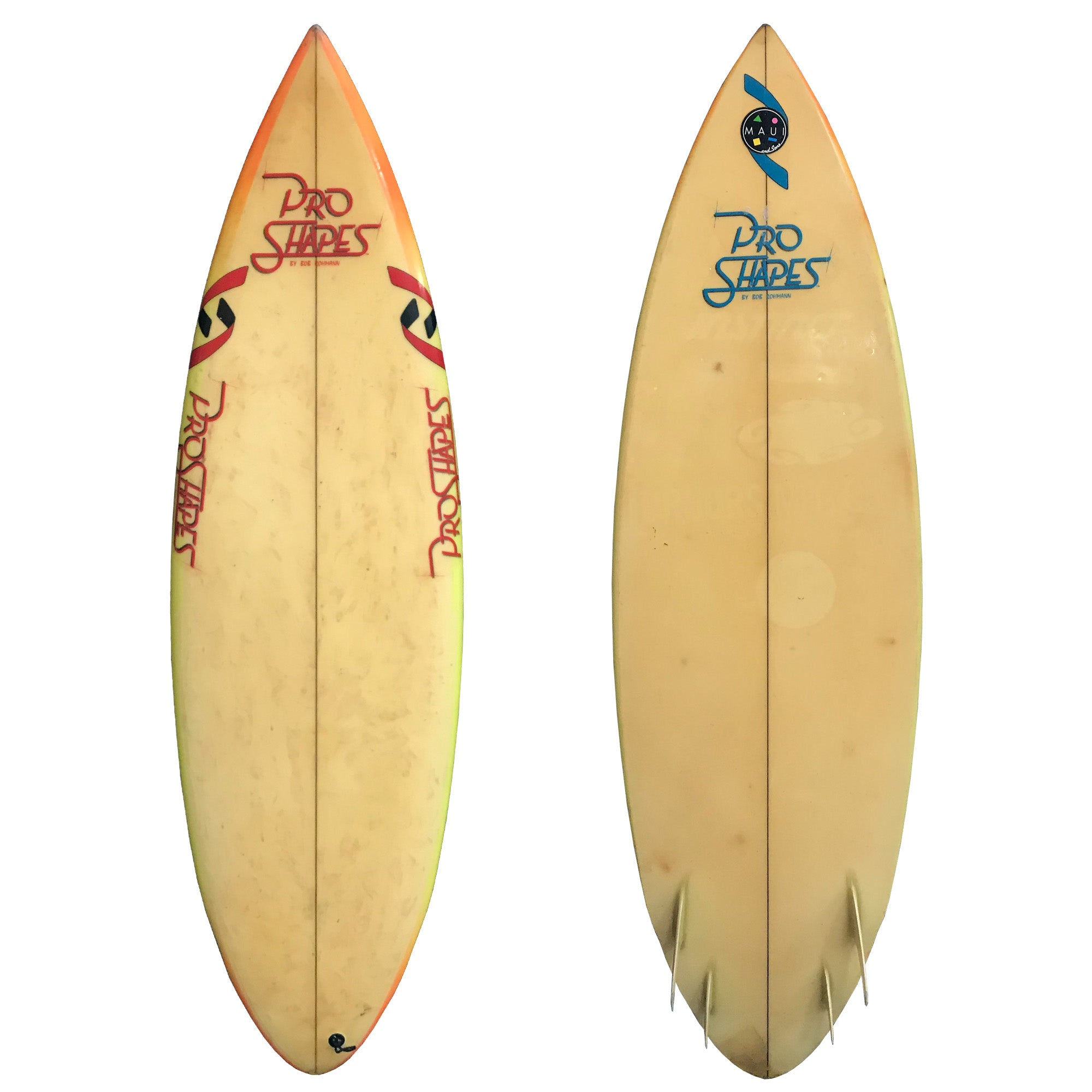 Handshaped by Bob Rohmann Pro Shapes Collector's Surfboard