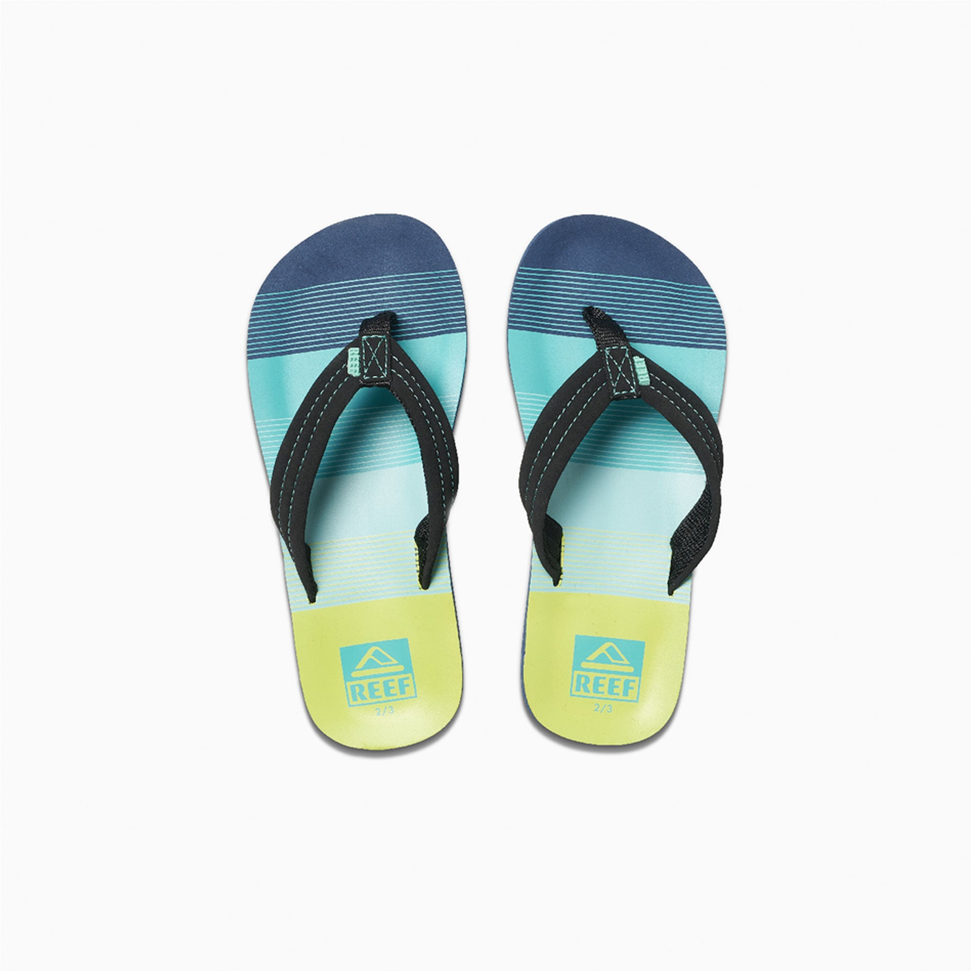 Reef Kids Ahi Boys Youth Sandals - Aqua/Green