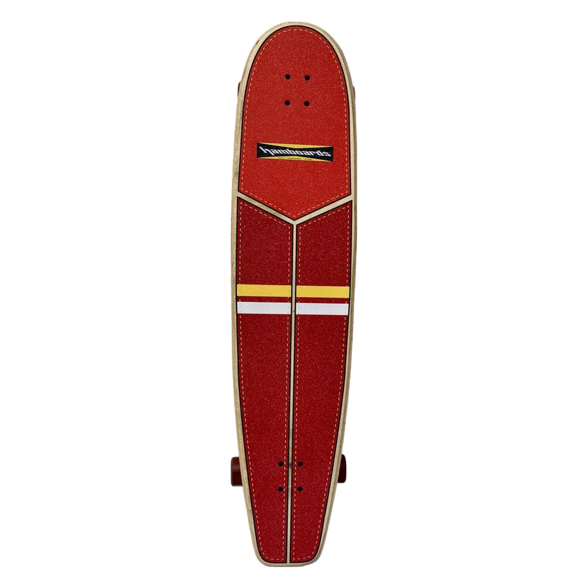 "Hamboard Huntington Hop 45"" Surfskate Skateboard - Red Orange Yellow White"