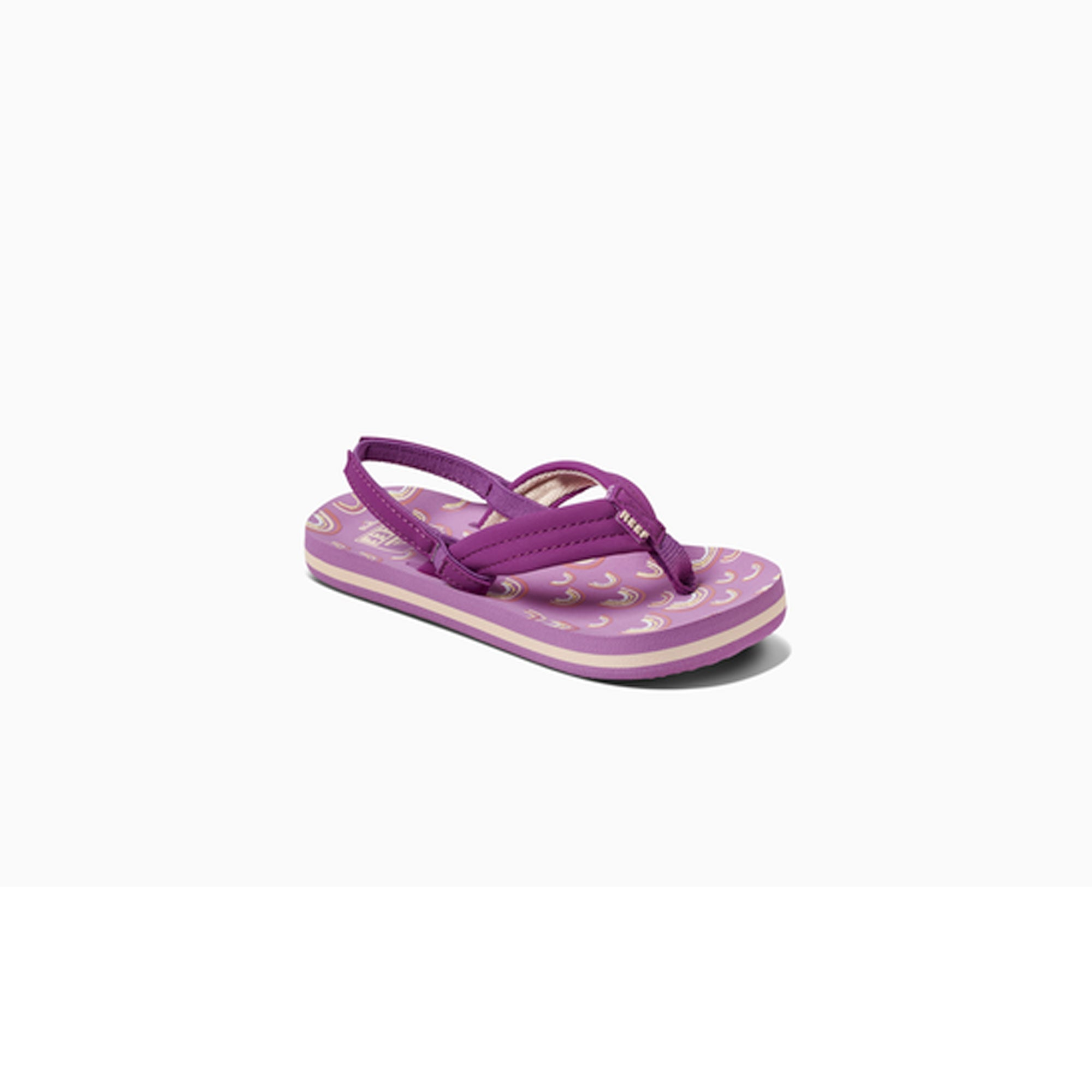 Reef Little Ahi Youth Girl's Sandals - Purple Rainbow