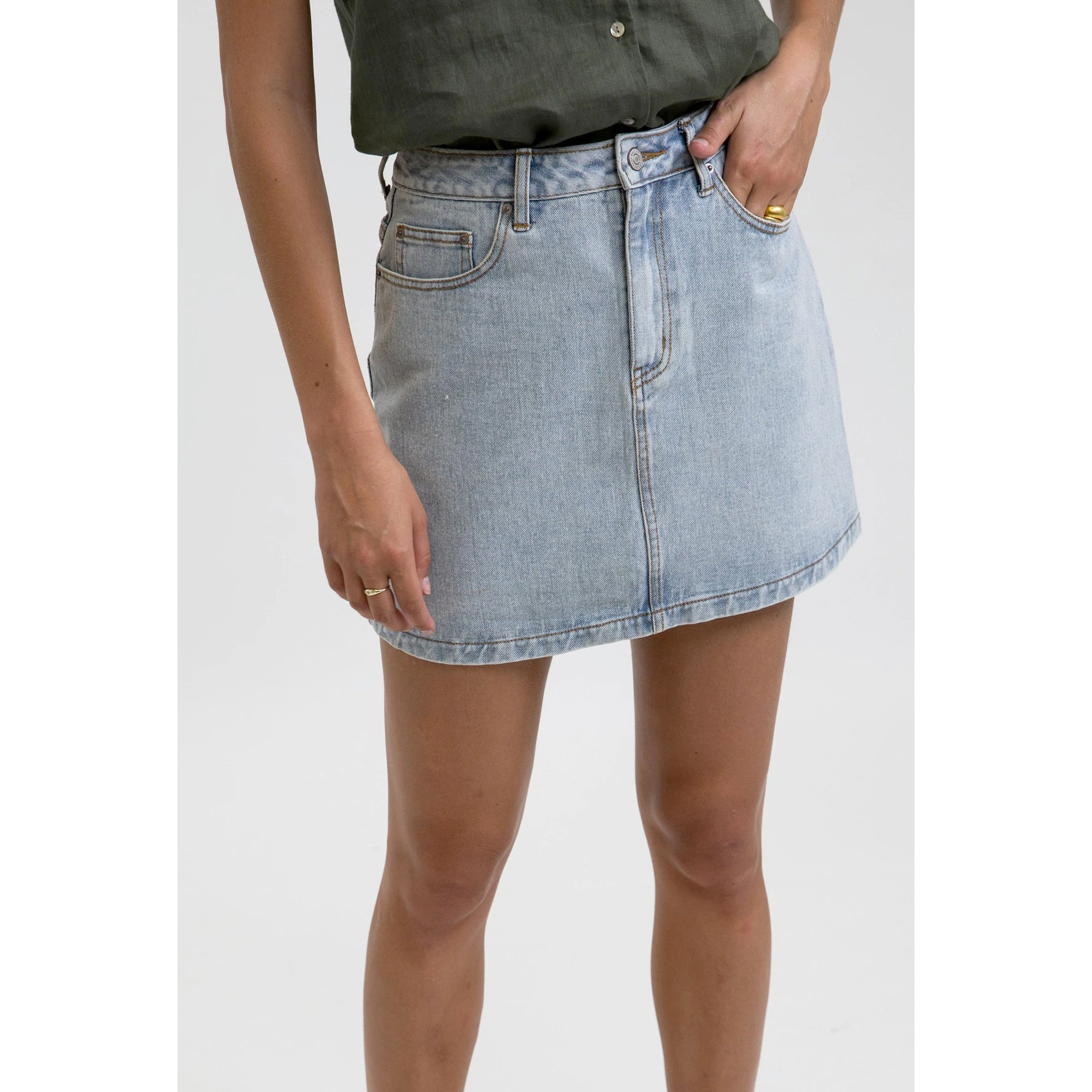 Rhythm Classic A-Line Women's Denim Skirt