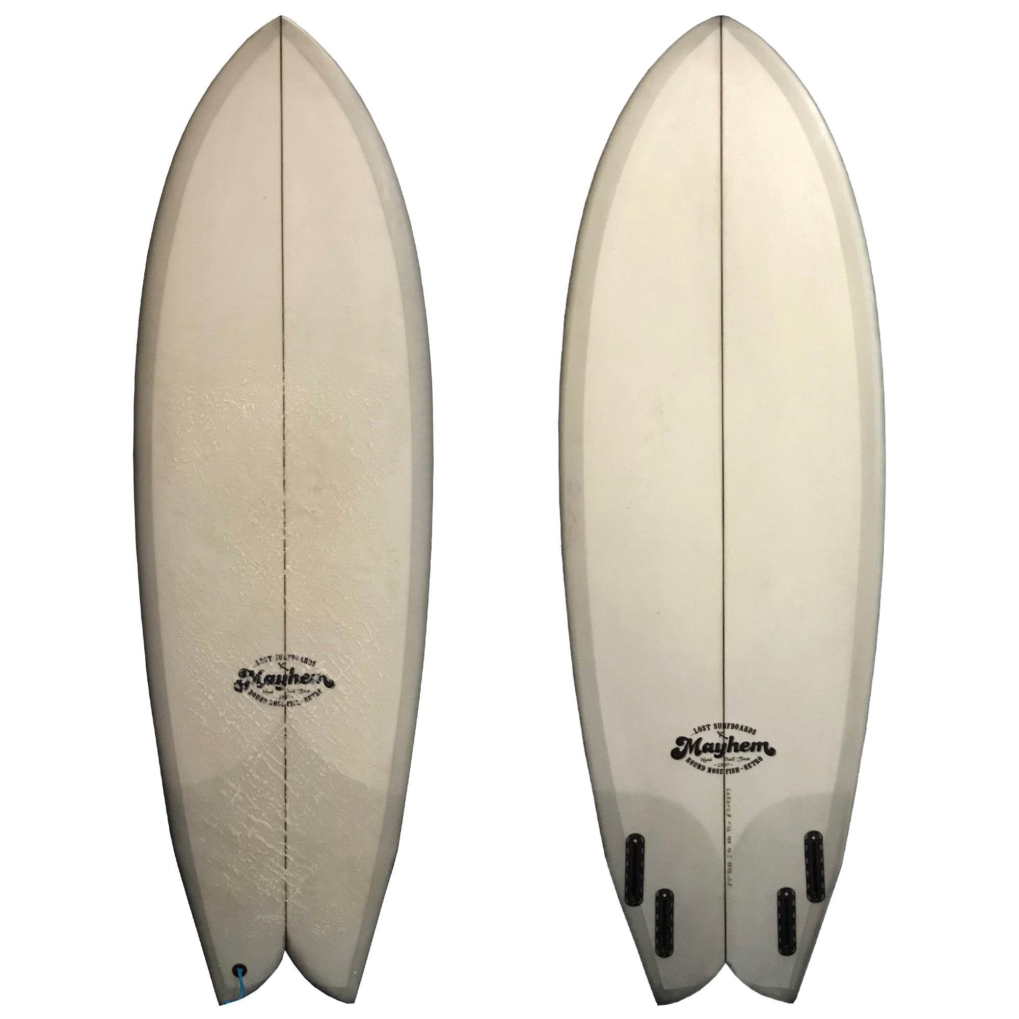 Lost Surfboards Round Nose Fish Retro 5'7 Used Surfboard
