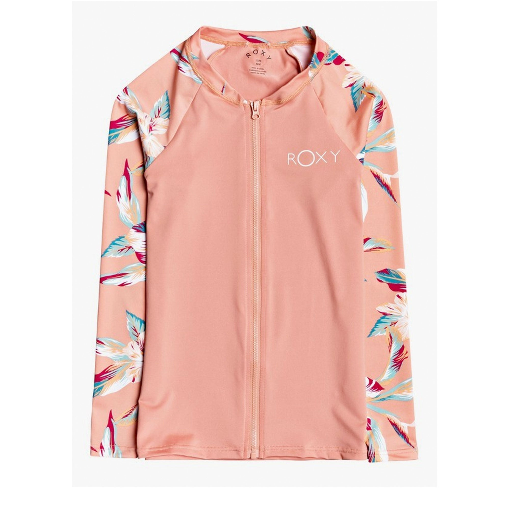 Roxy Made For Girl's L/S Front-Zip UPF 50 Rashguard