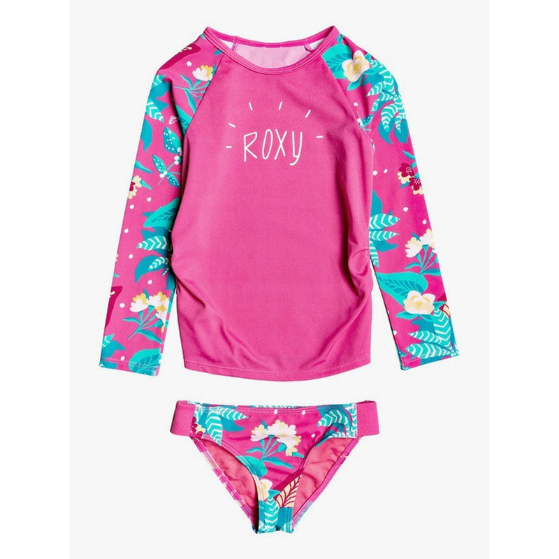 Roxy Magical Sea Toddler Girl's L/S UPF 50 Rashguard Set