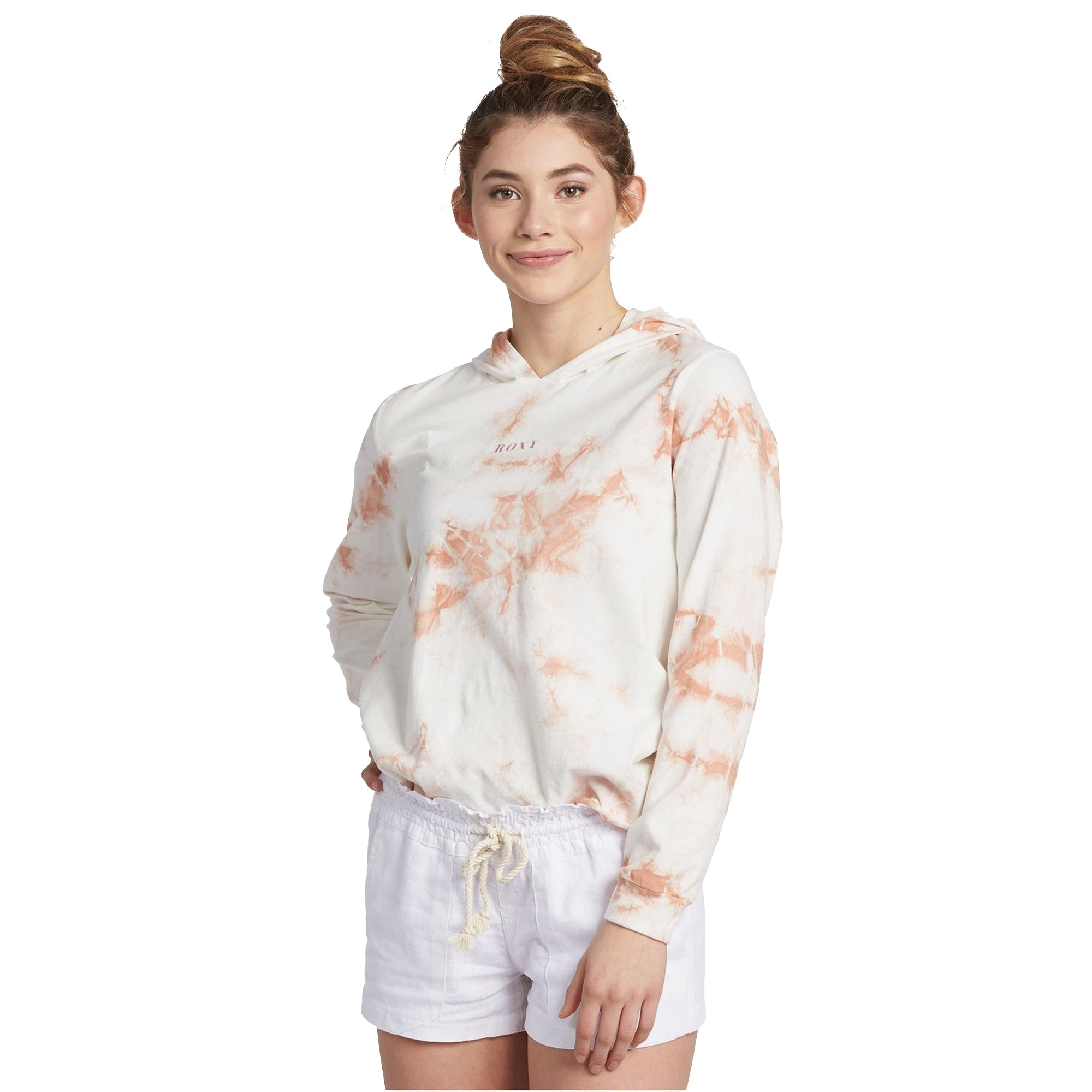 Roxy Framed Palm Tree Women's L/S Hooded T-Shirt