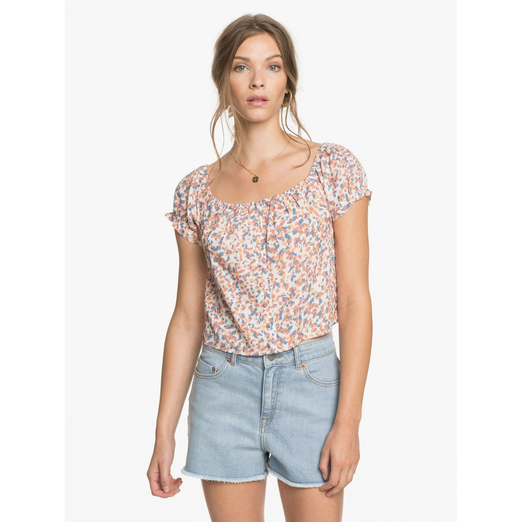 Roxy Kissing The Swell Women's Denim Shorts