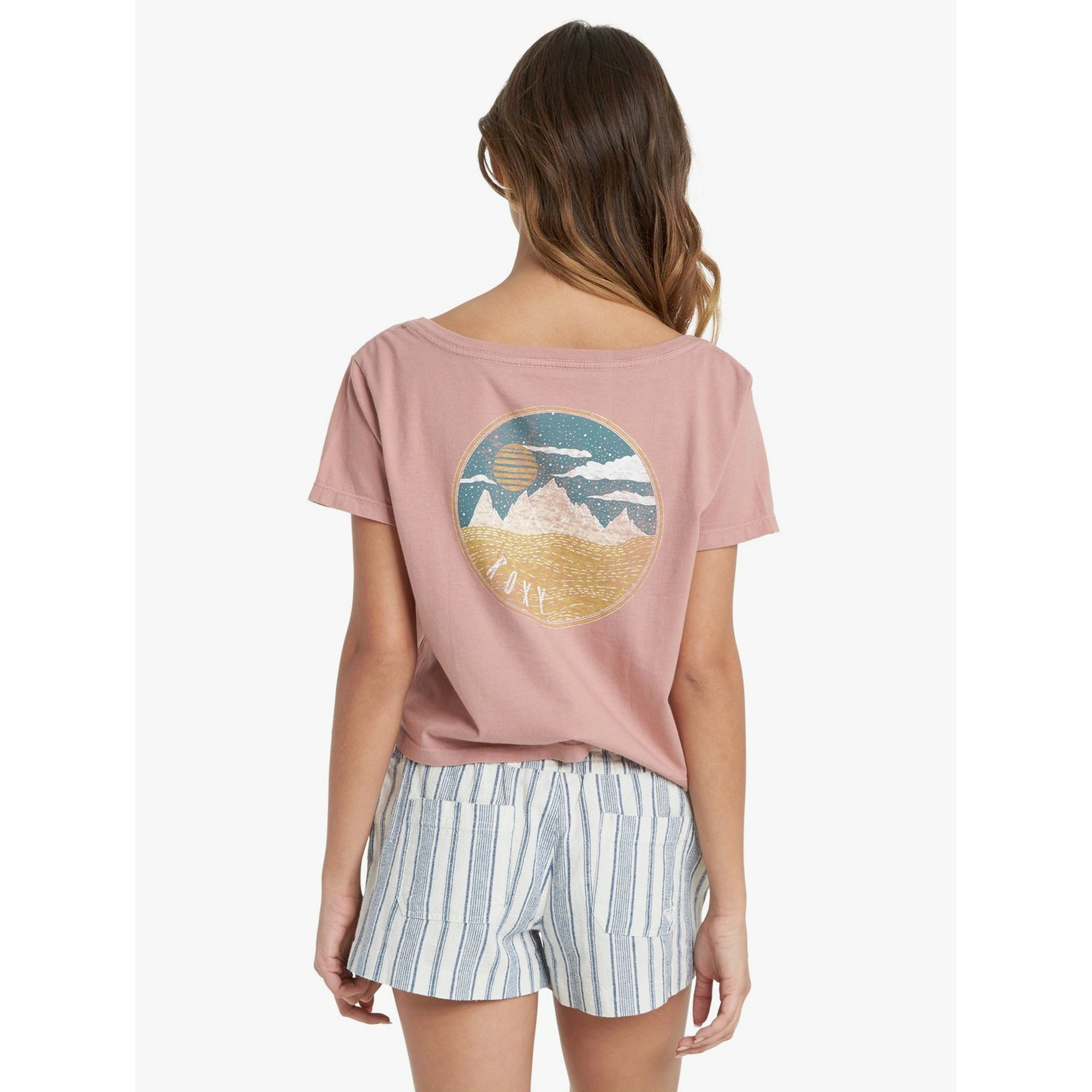 Roxy Mountain Dream Women's S/S V-Neck T-Shirt